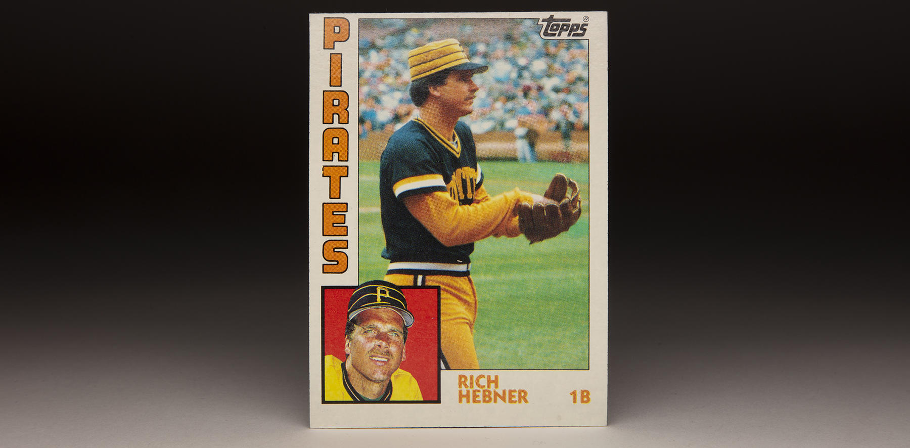 Richie Hebner's 1984 Topps card shows him in his second stint with the Pittsburgh Pirates. (Topps baseball card photographed by Milo Stewart Jr./National Baseball Hall of Fame and Museum)