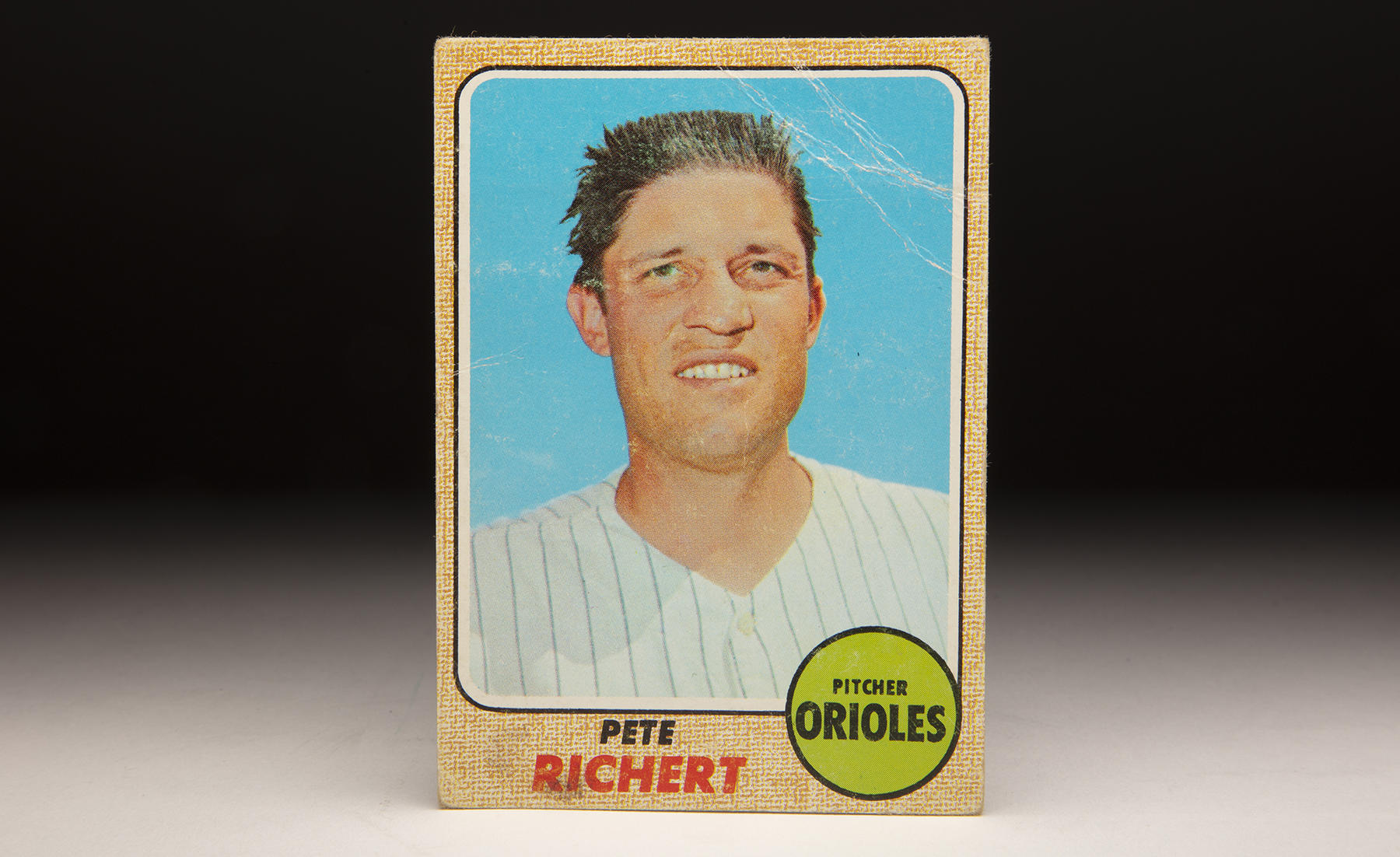 Pete Richert's 1968 Topps card featured a photo that was likely taken when he was a member of the Senators. In 13 big league seasons, Richert won 80 games, saved 51 more and earned two World Series rings. (Milo Stewart Jr./National Baseball Hall of Fame and Museum)