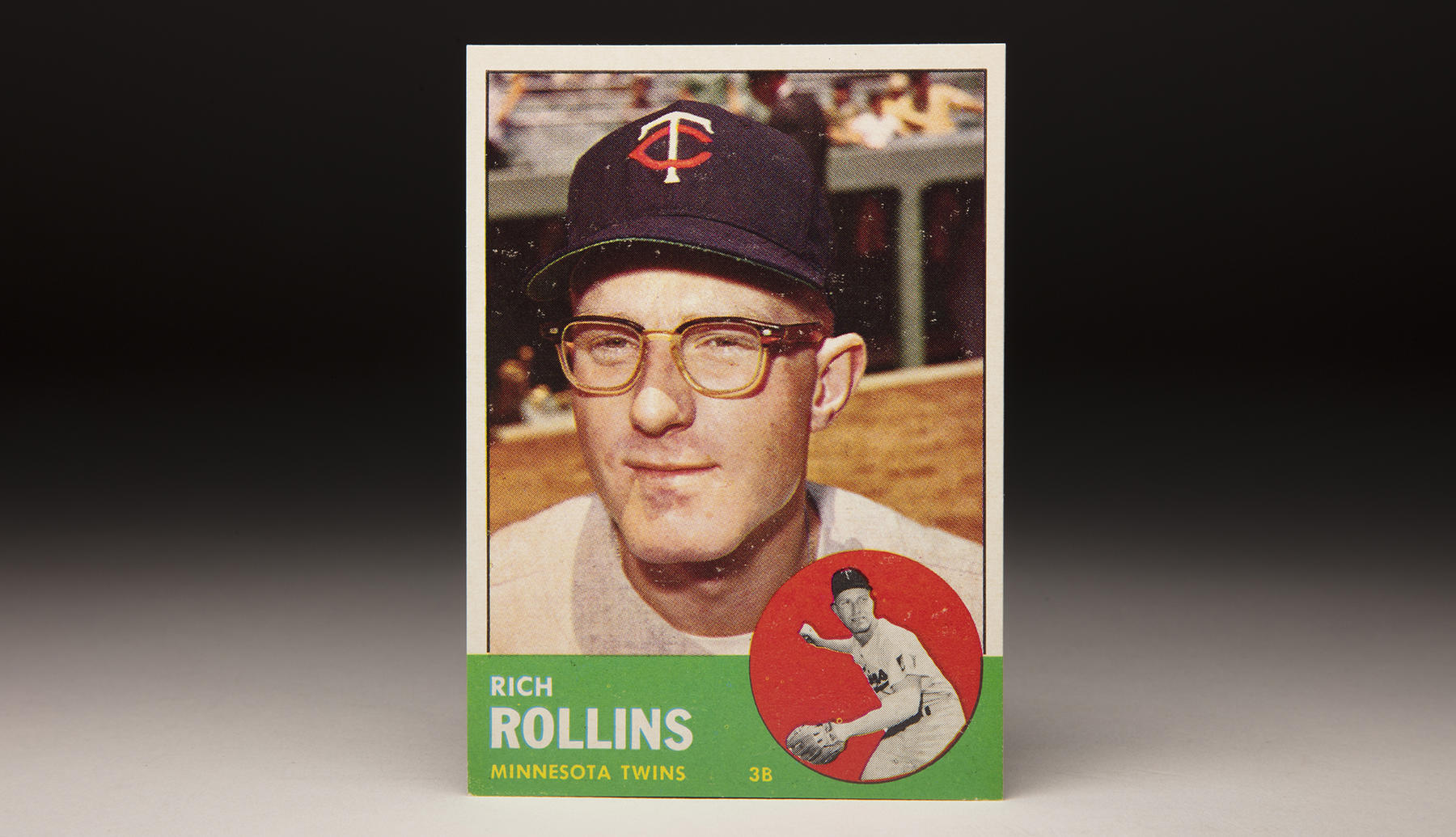 Rich Rollins' 1963 Topps card featured his trademark eyeglasses. (Milo Stewart Jr./National Baseball Hall of Fame and Museum)