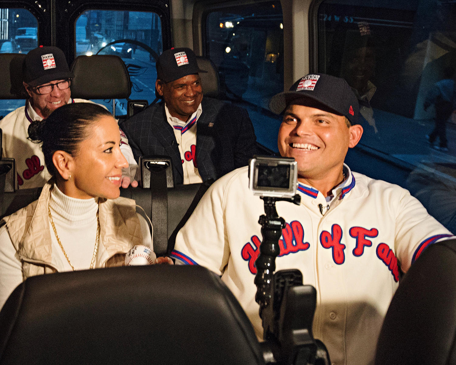 The new inductees were all smiles Jan. 19 during a jam-packed day of press conferences and interviews. (Jean Fruth / National Baseball Hall of Fame)