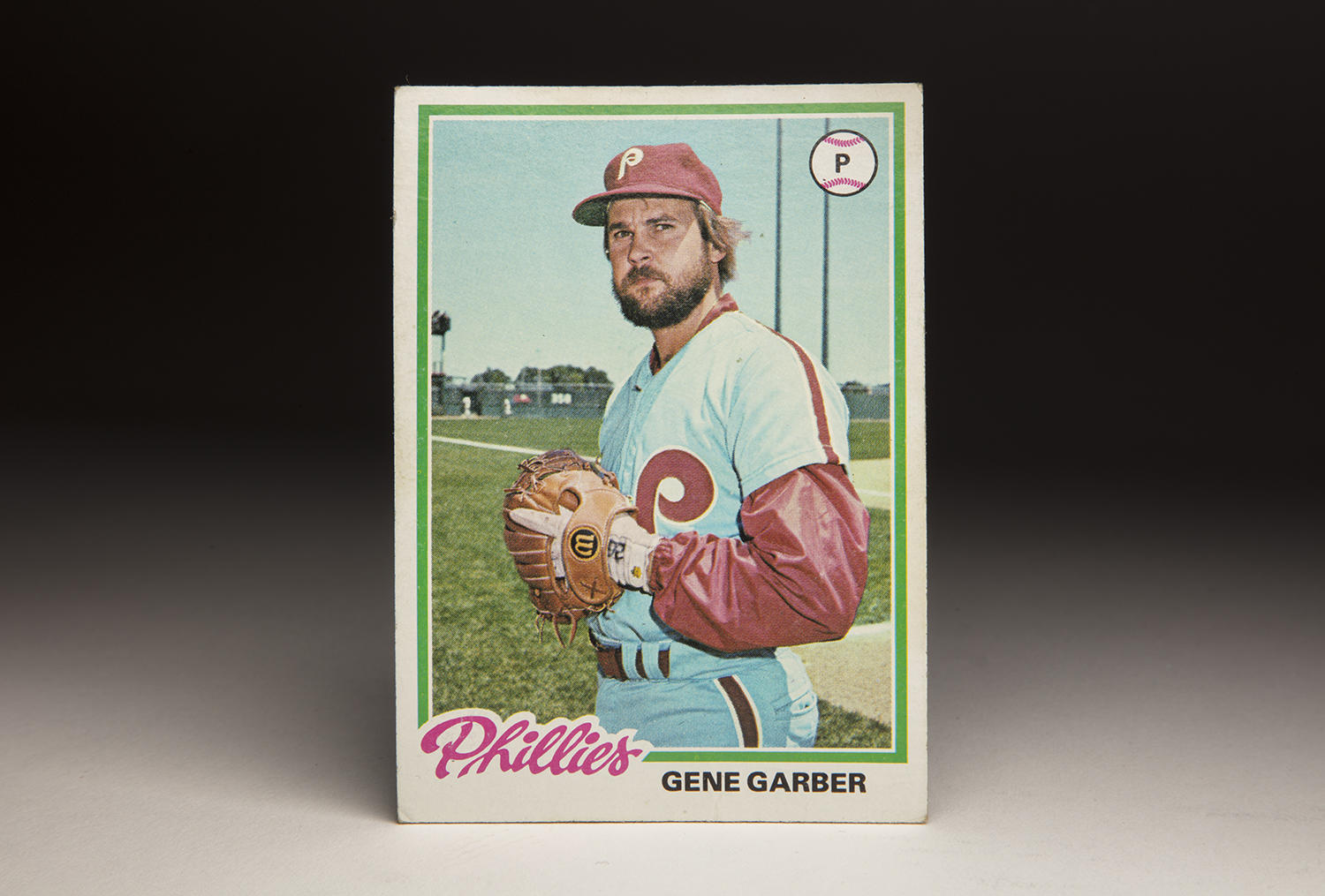 Gene Garber's beard and long-sleeved warm-up jacket made his 1978 Topps card easily identifiable. (Milo Stewart Jr. / National Baseball Hall of Fame and Museum)
