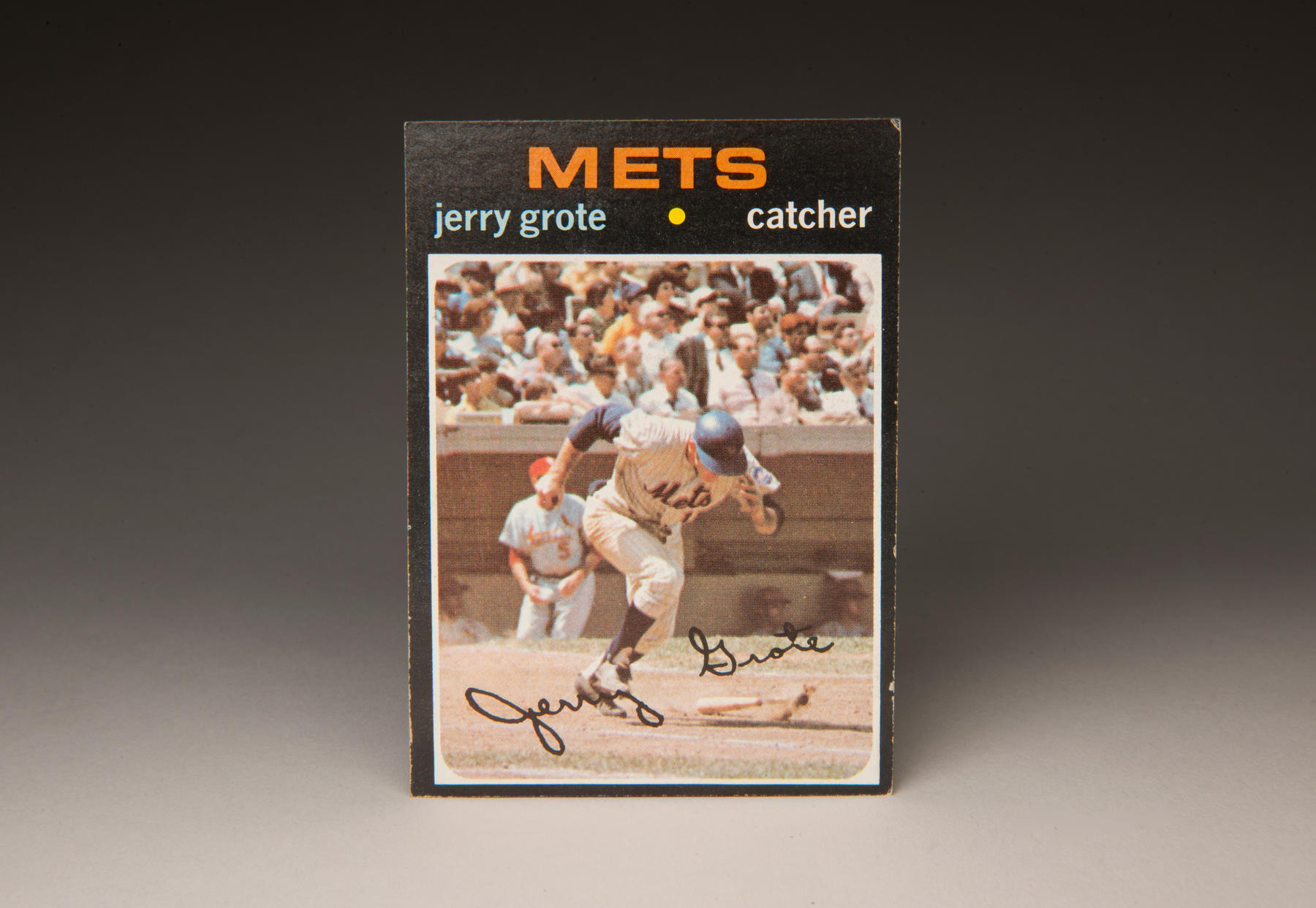 1971 Jerry Grote Topps card. (Milo Stewart, Jr. / National Baseball Hall of Fame)
