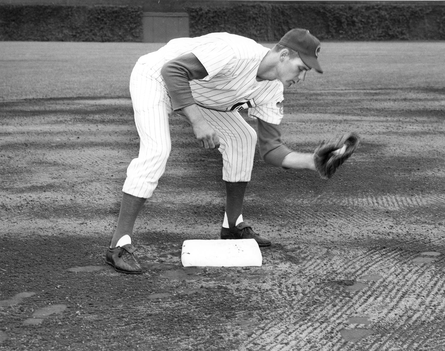 In 1962, Ken Hubbs set two major league records by playing more consecutive errorless games (78) and handling more consecutive chances (418) than any second baseman to that point in history. (National Baseball Hall of Fame and Museum)