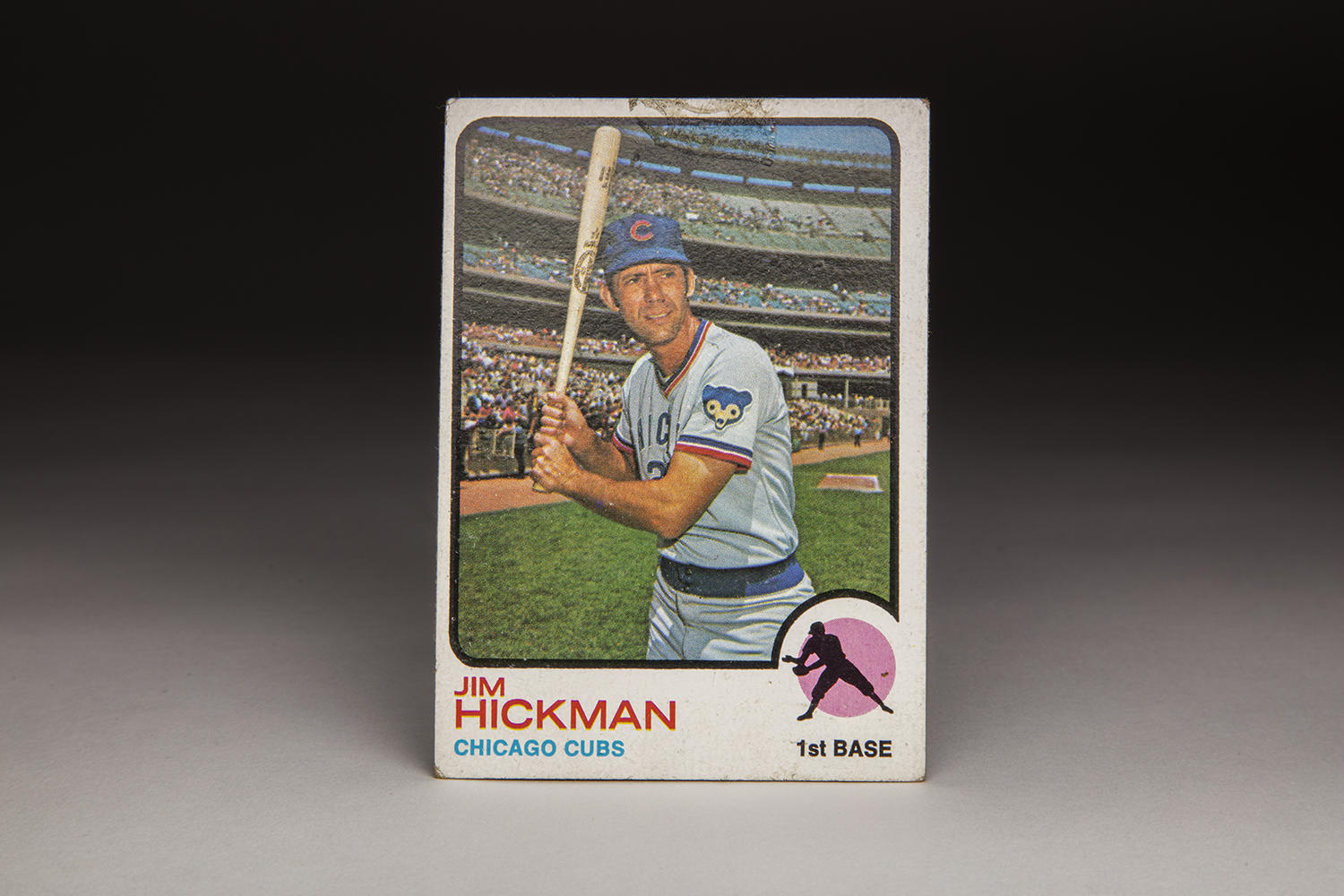Jim Hickman's 1973 Topps card, shown above, would be the last card of his career. Hickman would be released by the St. Louis Cardinals in 1974. (Milo Stewart Jr. / National Baseball Hall of Fame)
