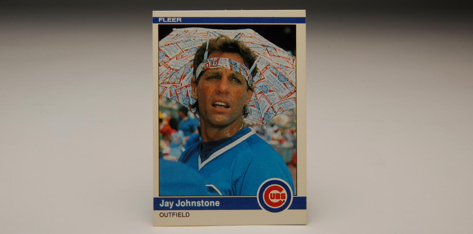 "Jay Johnstone 1984 Fleer ""Brockabrella"" card. B-49.47 (Milo Stewart, Jr. / National Baseball Hall of Fame)"