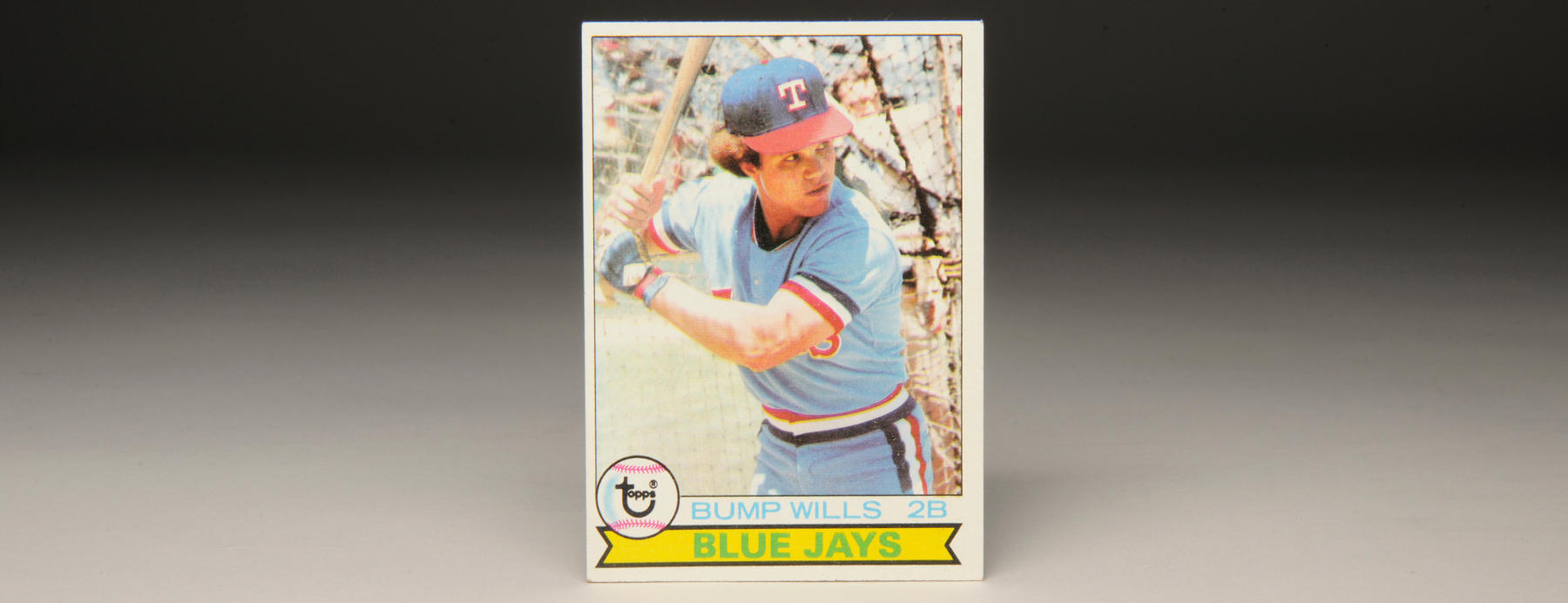 This 1979 Topps card featured Bump Wills in a Texas Rangers uniform with a Blue Jays description, a team he never played for. (Milo Stewart, Jr. / National Baseball Hall of Fame)
