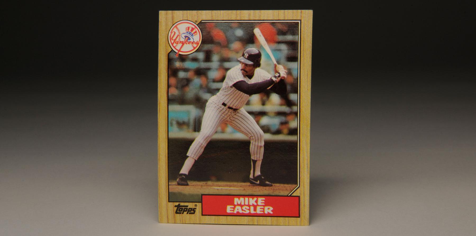 1987 Topps wood-bordered Mike Easler card. (Milo Stewart, Jr. / National Baseball Hall of Fame)