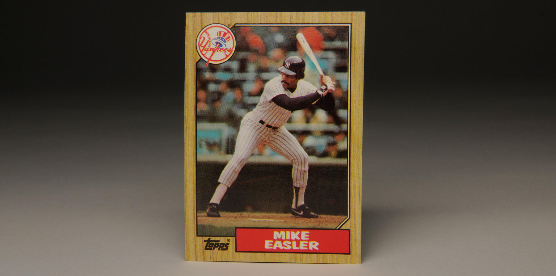 1987 Topps wood-bordered Mike Easler card. (Milo Stewart, Jr. / National Baseball Hall of Fame)