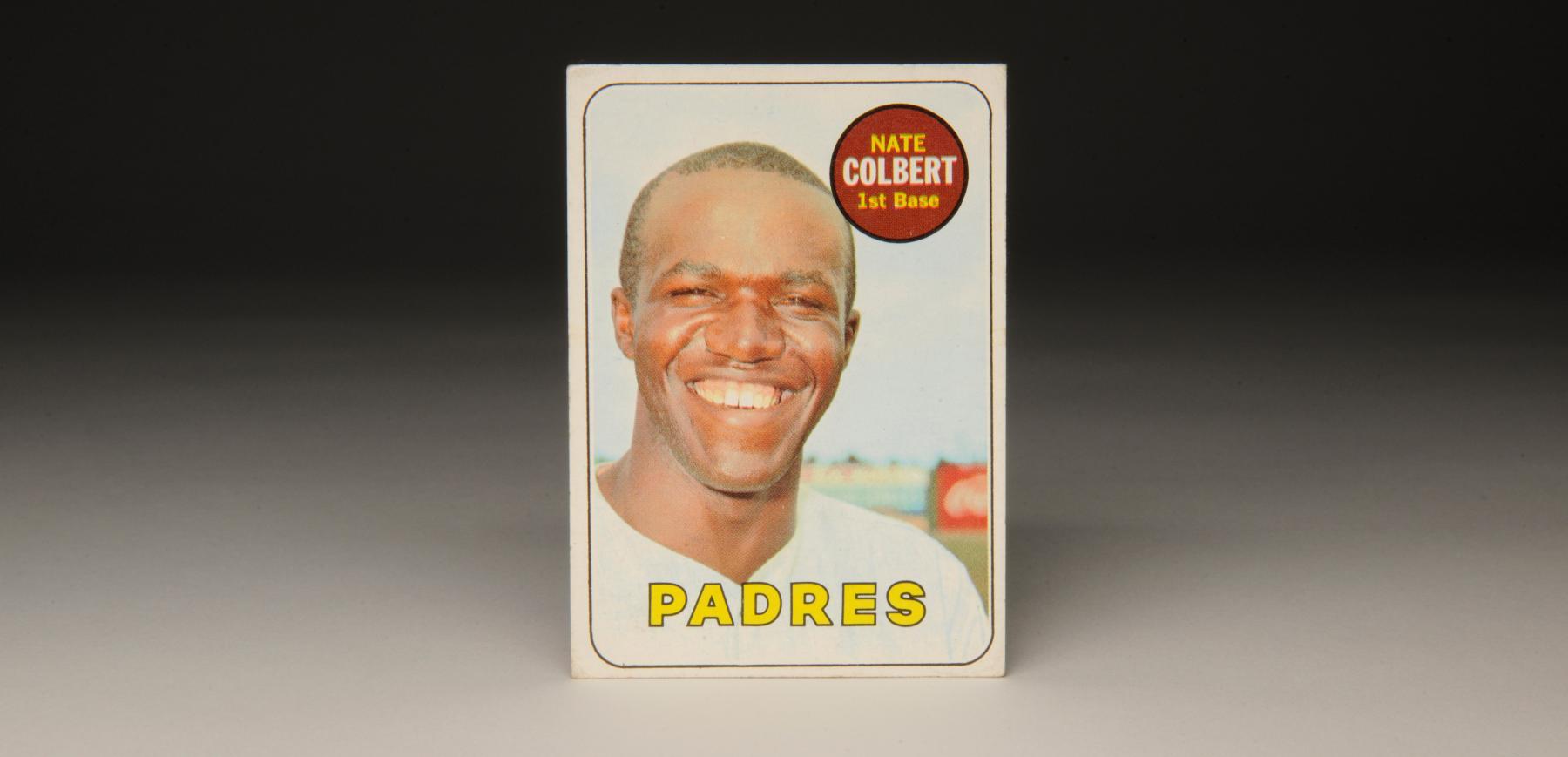 1969 Nate Colbert Topps card. (Milo Stewart, Jr. / National Baseball Hall of Fame)