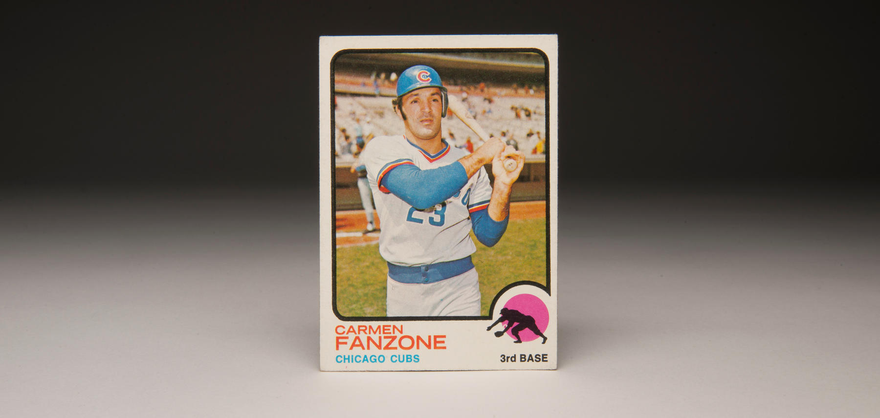 1973 Carmen Fanzone Topps card. (Milo Stewart, Jr. / National Baseball Hall of Fame)