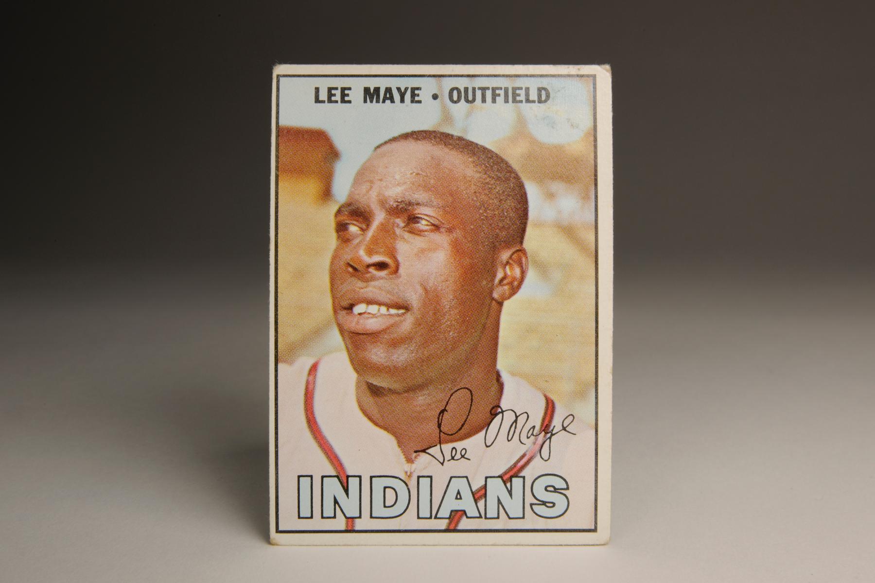1967 Lee Maye Topps card. (Milo Stewart Jr. / National Baseball Hall of Fame)