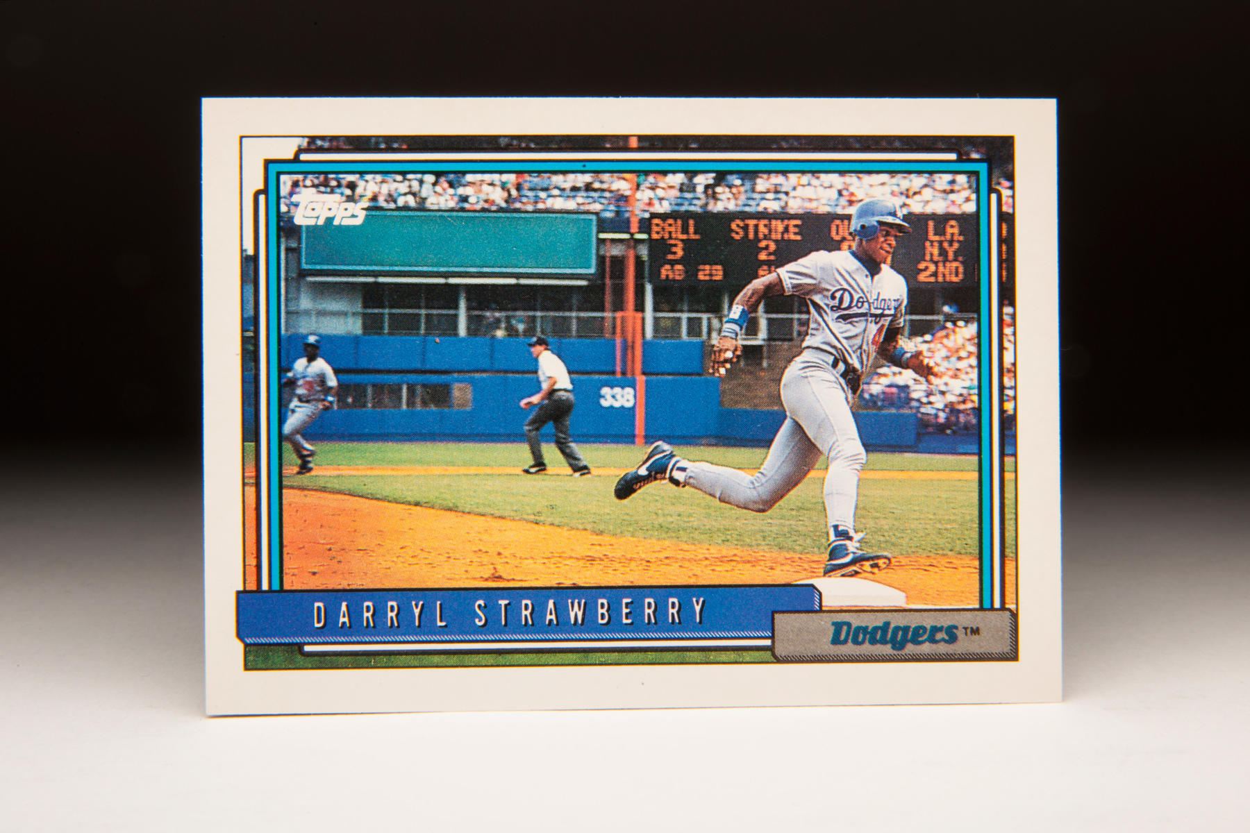 1992 Darryl Strawberry Topps card. (Milo Stewart Jr. / National Baseball Hall of Fame)