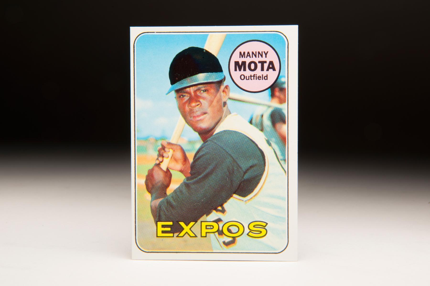 1969 Manny Mota Topps card. (Milo Stewart Jr. / National Baseball Hall of Fame)