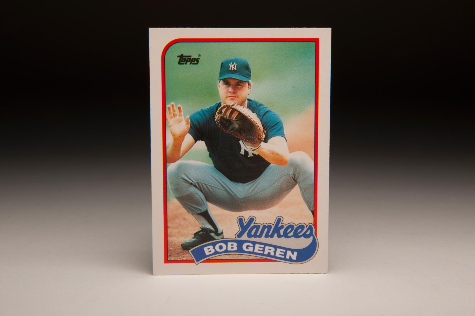 1989 Bob Geren Topps card. (Milo Stewart Jr. / National Baseball Hall of Fame)