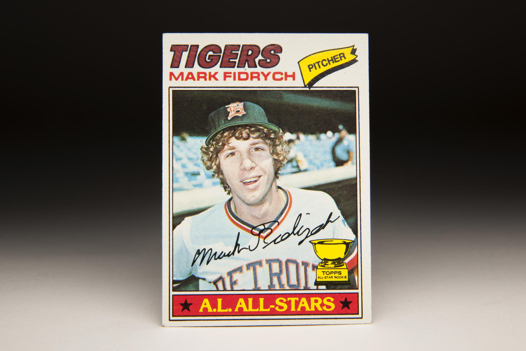 Mark Fidrych's card was perhaps the most anticipated in the 1977 set. (Milo Stewart, Jr. / National Baseball Hall of Fame)