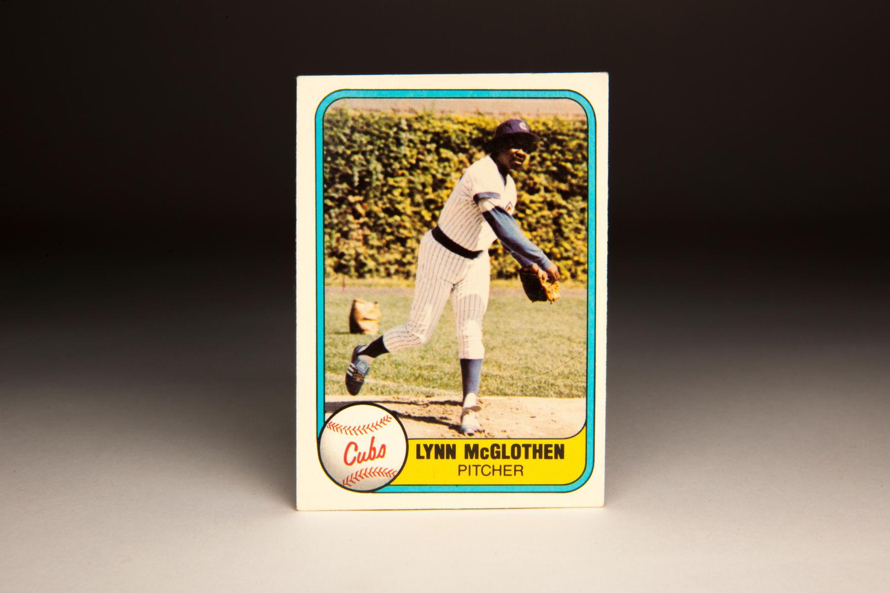 1981 Lynn McGlothen Fleer card. (Milo Stewart Jr. / National Baseball Hall of Fame)