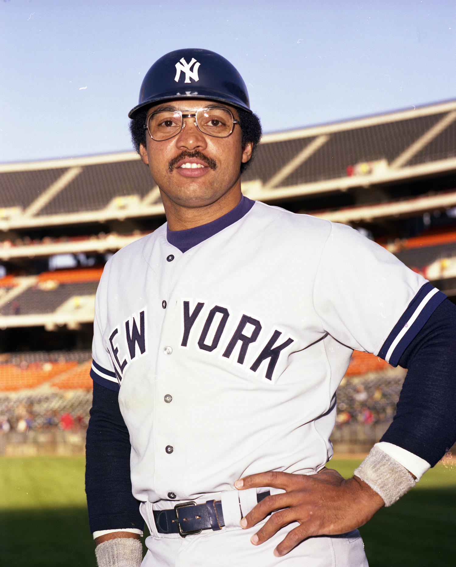 Reggie Jackson became the subject of a celebrated bidding war between several teams, including the Expos and the Yankees, in 1976. He chose the Yankees, signing a 5-year-deal for $3.5 million dollars. (Doug McWilliams / National Baseball Hall of Fame)