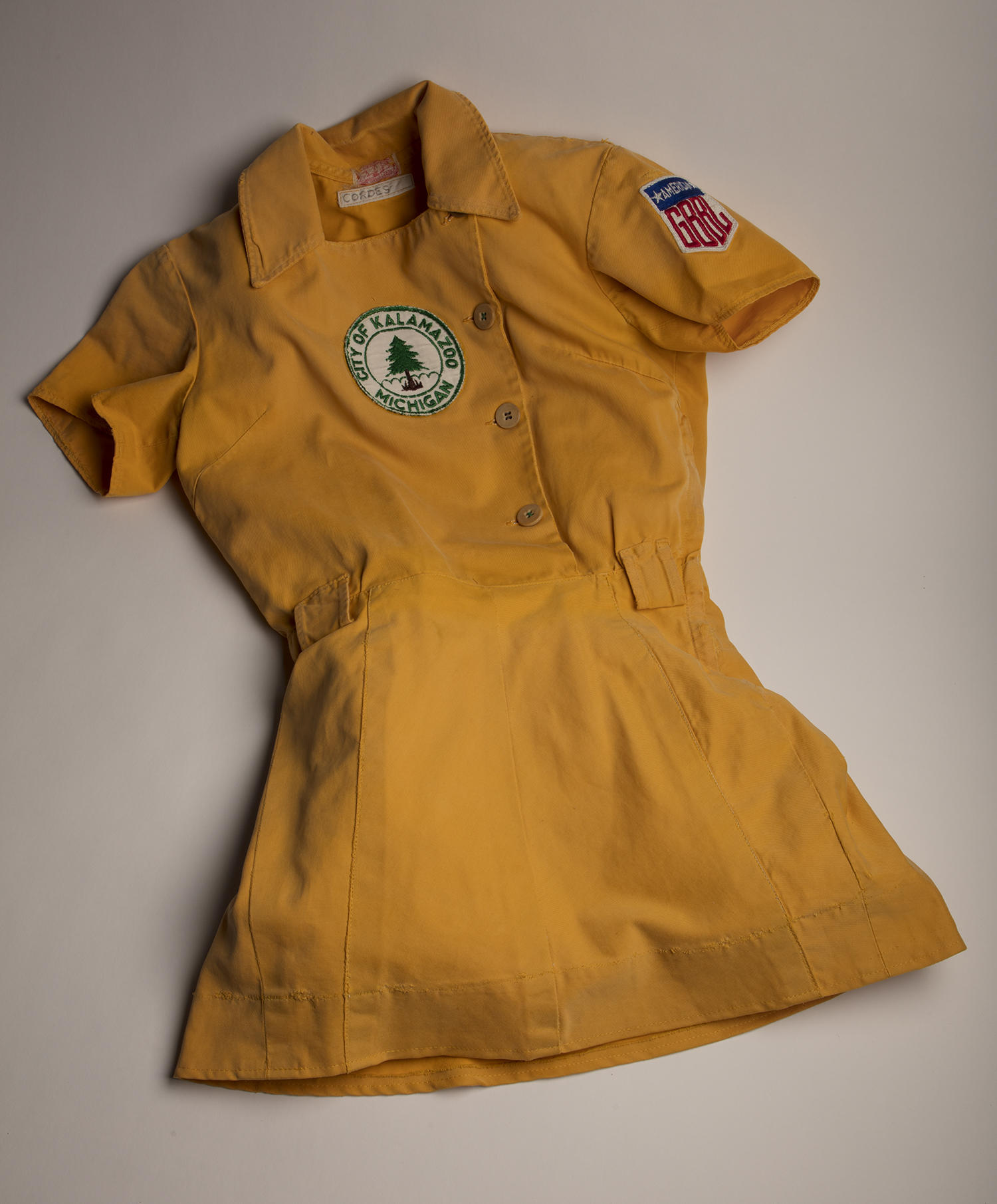 This Kalamazoo Lassie tunic was worn by Gloria Cordes from 1950-1954. (Milo Stewart Jr. / National Baseball Hall of Fame and Museum)