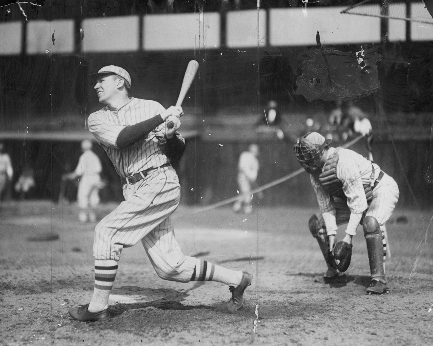 New research shows that in 1930, New York Giants third baseman Freddie Lindstrom went 59-for-123 (.480) with runners in scoring position, which is likely the top mark in the history of the game among fulltime players. (National Baseball Hall of Fame and Museum)