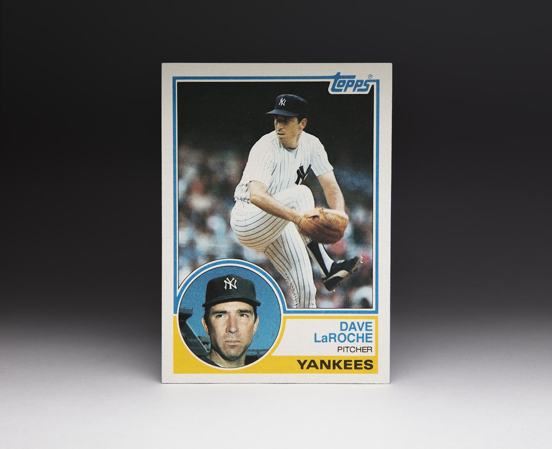 Cardcorner 1983 Topps Dave Laroche Baseball Hall Of Fame