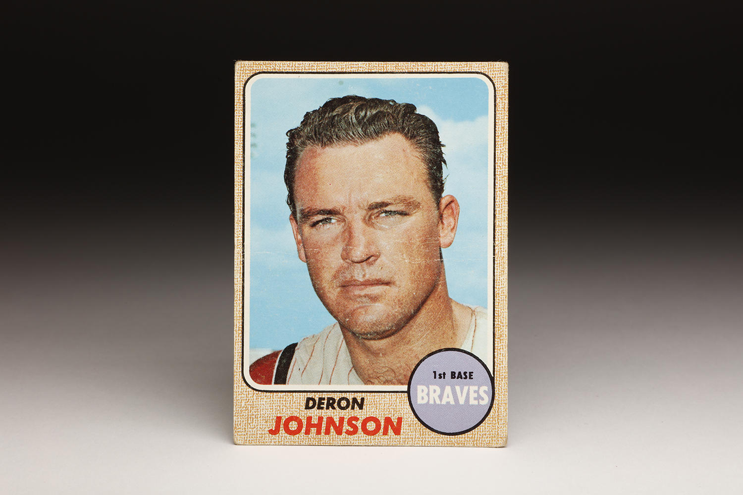 Deron Johnson's 1968 Topps card depicts his toughness, but teammates knew him as a kind and supportive man with a dogged work ethic. (Milo Stewart Jr. / National Baseball Hall of Fame)