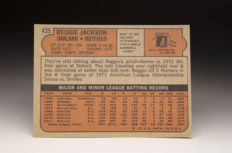 CardCorner: 1972 Topps Reggie Jackson | Baseball Hall of Fame