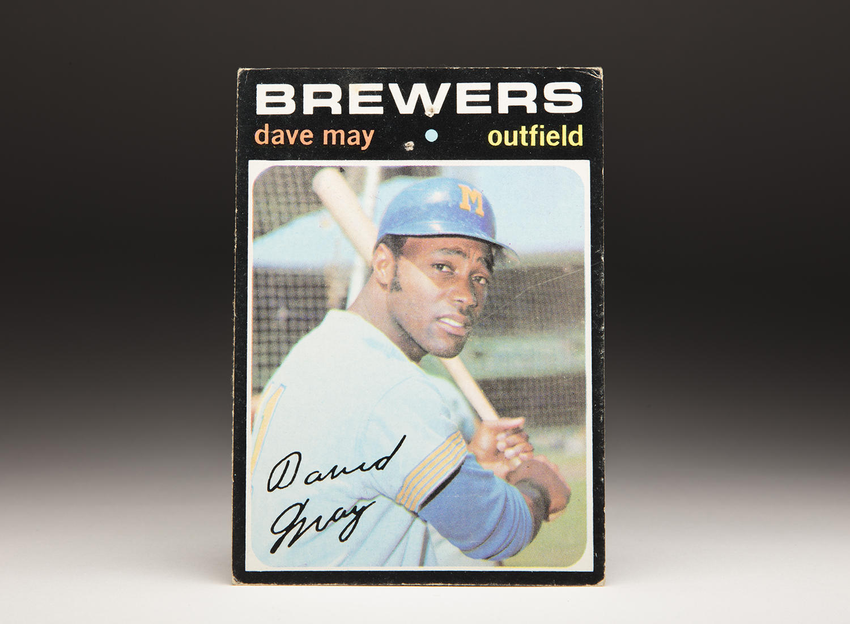Cardcorner 1971 Topps Dave May Baseball Hall Of Fame