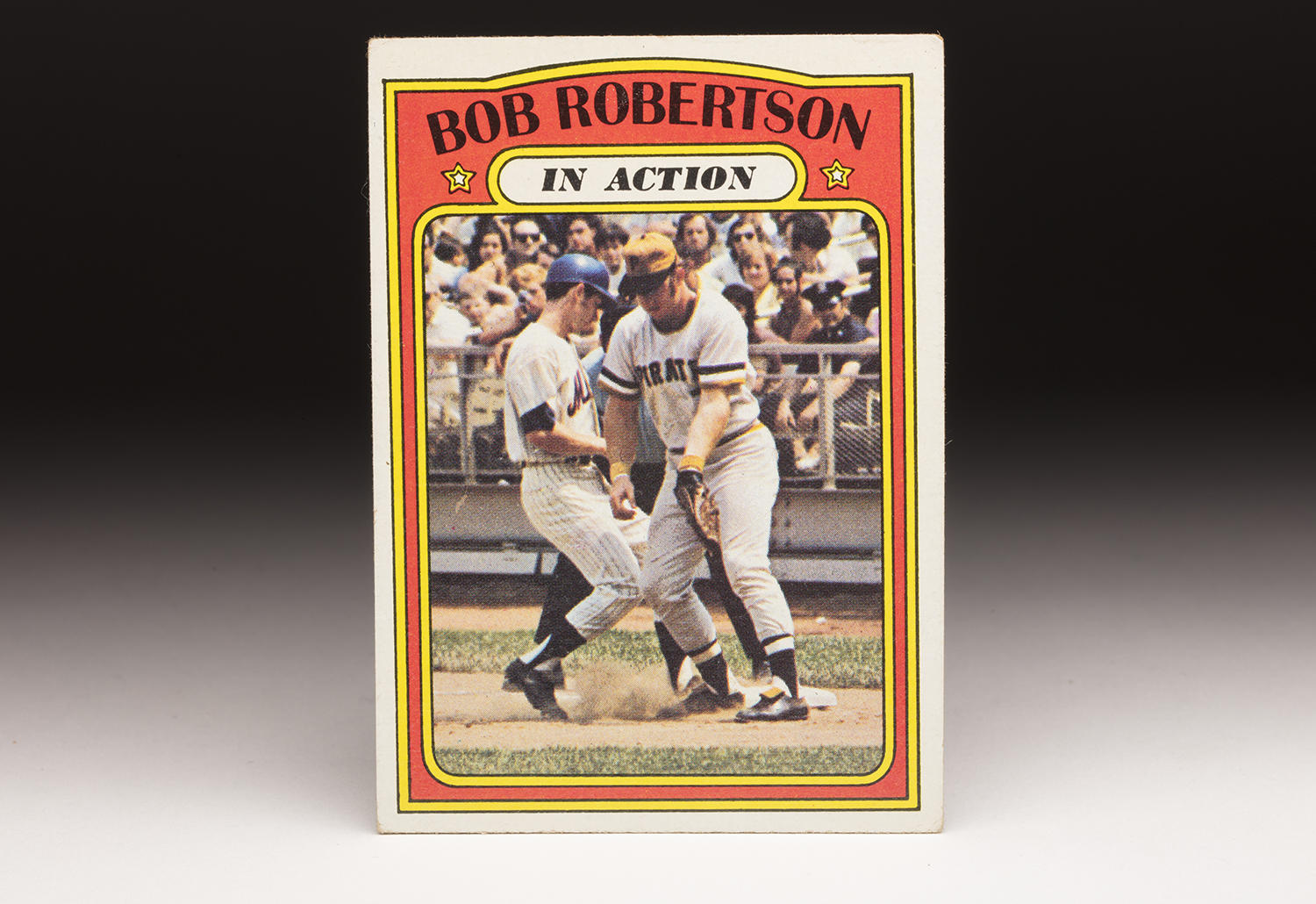 """A look at Bob Robertson's 1972 Topps """"In Action"""" card reinforces the notion that he had substantial power. (By Photographer Milo Stewart Jr./National Baseball Hall of Fame and Museum)"""