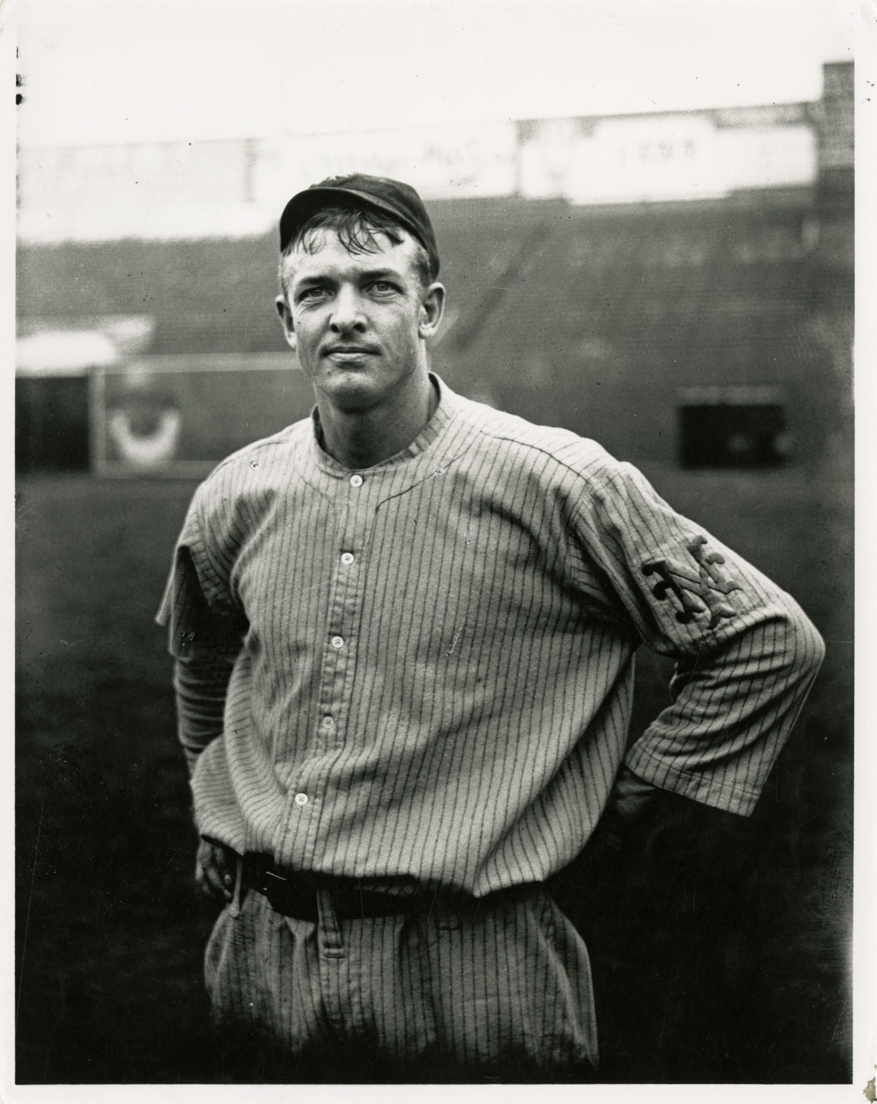 Charles Conlon captured this iconic photograph of Christy Mathewson, his friend and favorite subject, after a long day of practice in 1911.  Matthewson-Christy-7319-89-FL-SN-Conlon  (National Baseball Hall of Fame and Library)