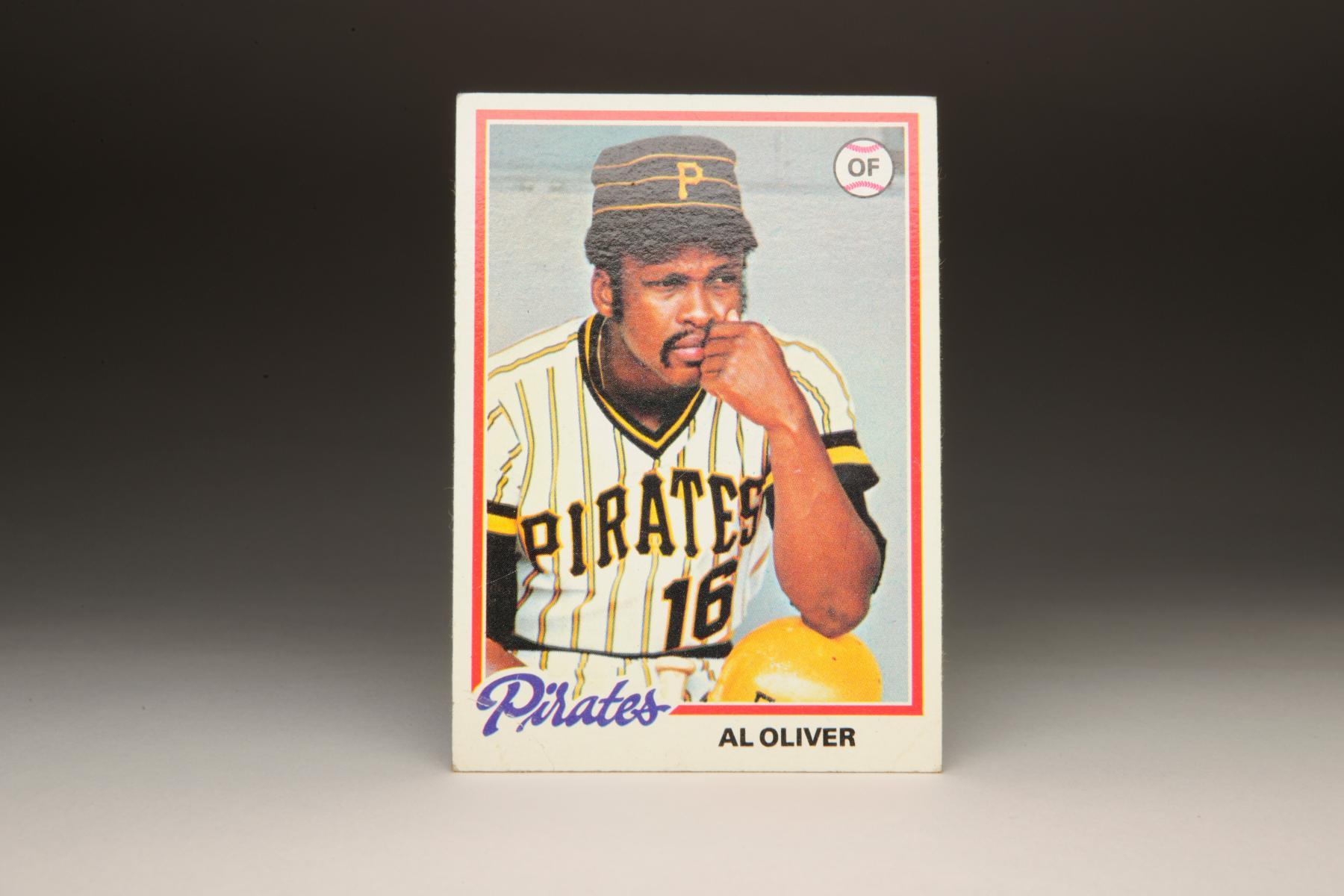 1978 Al Oliver Topps card. (Milo Stewart Jr. / National Baseball Hall of Fame)
