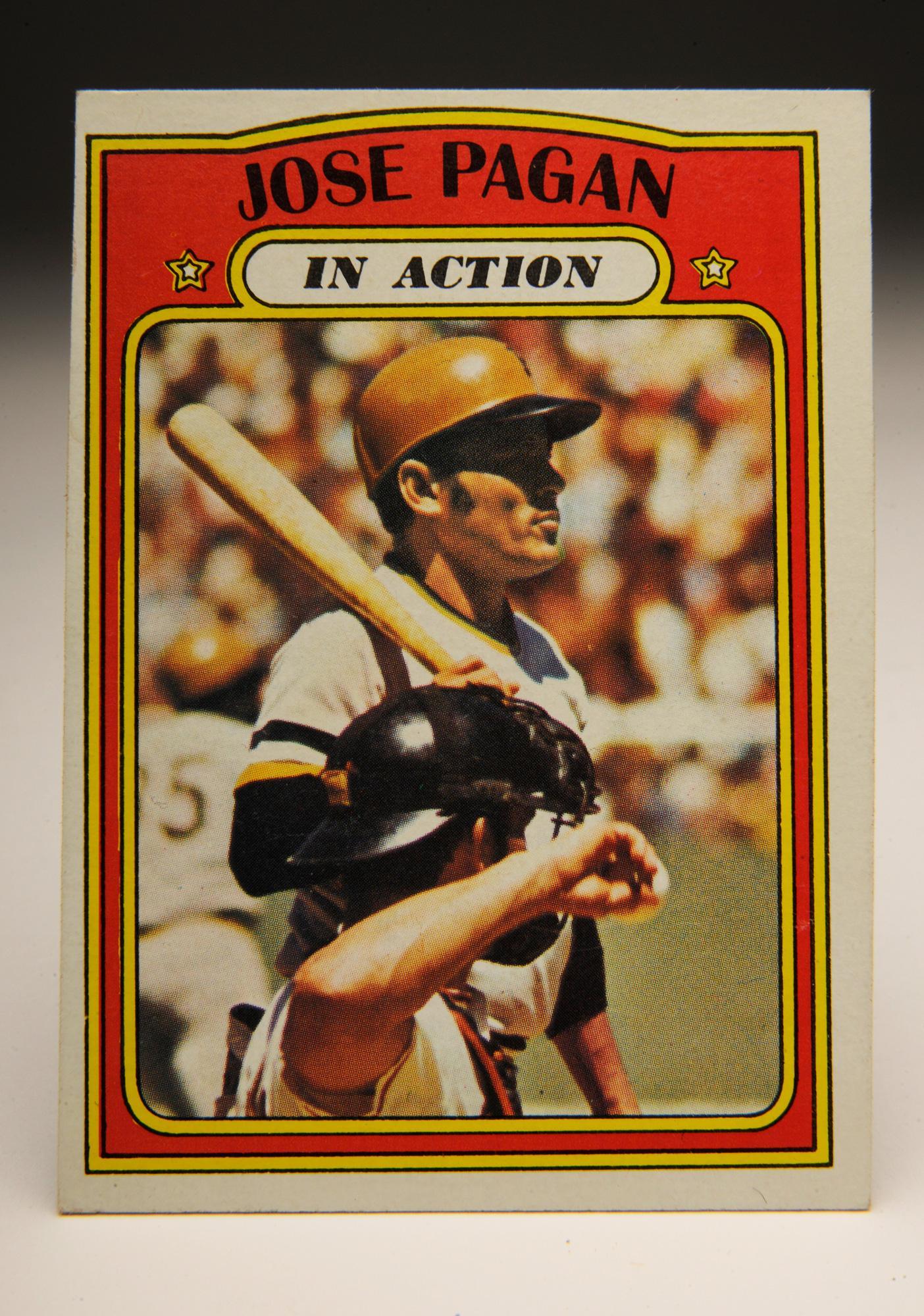"1972 Topps ""In Action"" series Jose Pagan baseball card."