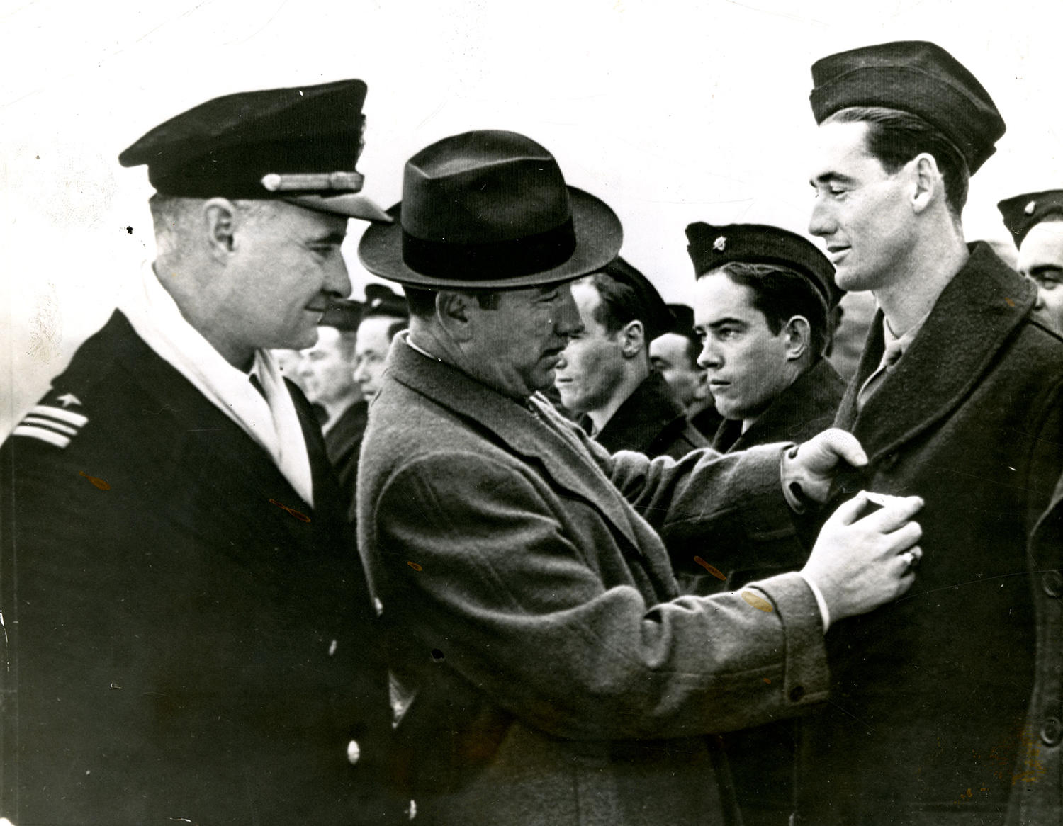"""Ted Williams was one of only 10 percent of World War II era Navy flyers to receive their wings and finished top in his class at flight school. <a href=""""http://collection.baseballhall.org/islandora/object/islandora%3A501834"""">PASTIME</a> (National Baseball Hall of Fame)"""