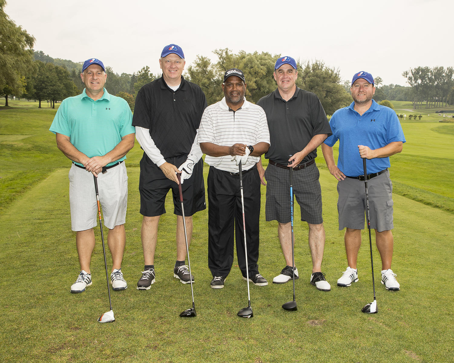 Hall of Famer Tim Raines served as host of the 35th annual Otesaga Hotel Seniors Open Pro-Am. (By Photographer Milo Stewart Jr./National Baseball Hall of Fame and Museum)