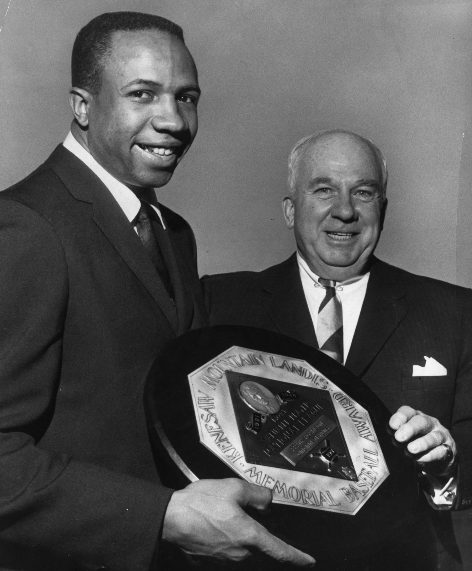 Frank Robinson won his first MVP Award in 1961, while playing for the Cincinnati Reds. (National Baseball Hall of Fame and Museum)