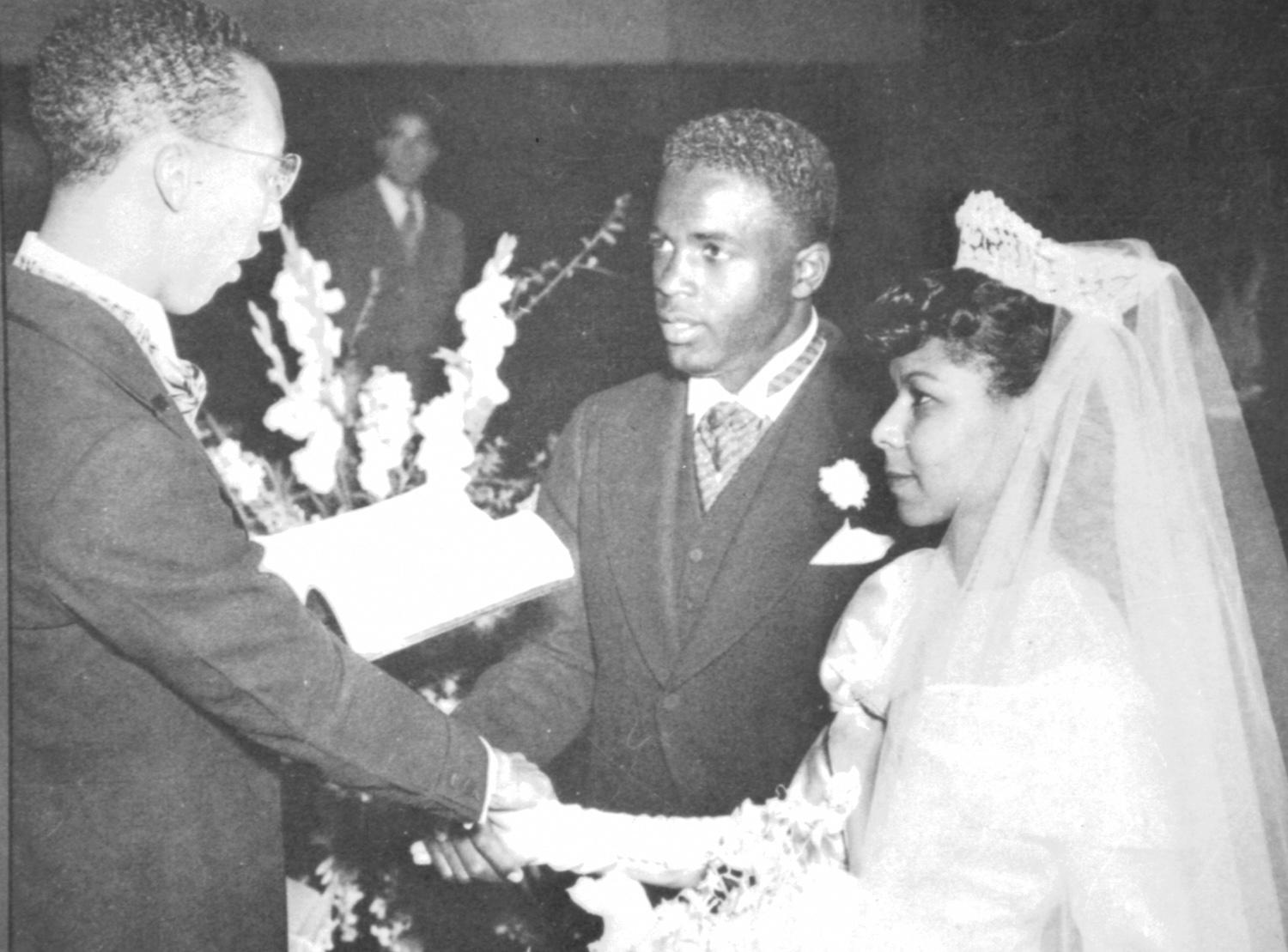 Jackie and Rachel Robinson were married for 26 years. (National Baseball Hall of Fame and Museum)