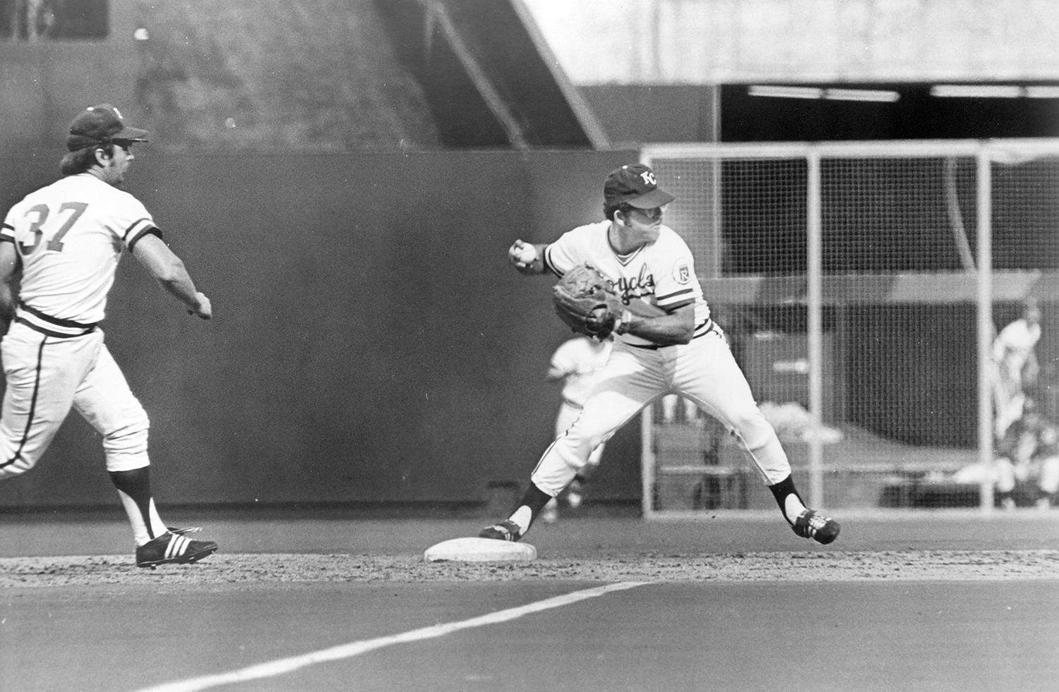 After being traded to the Kansas City Royals in 1970, Cookie Rojas became their starting second baseman, stabilizing the infield for a young, inexperienced team. (National Baseball Hall of Fame and Museum)