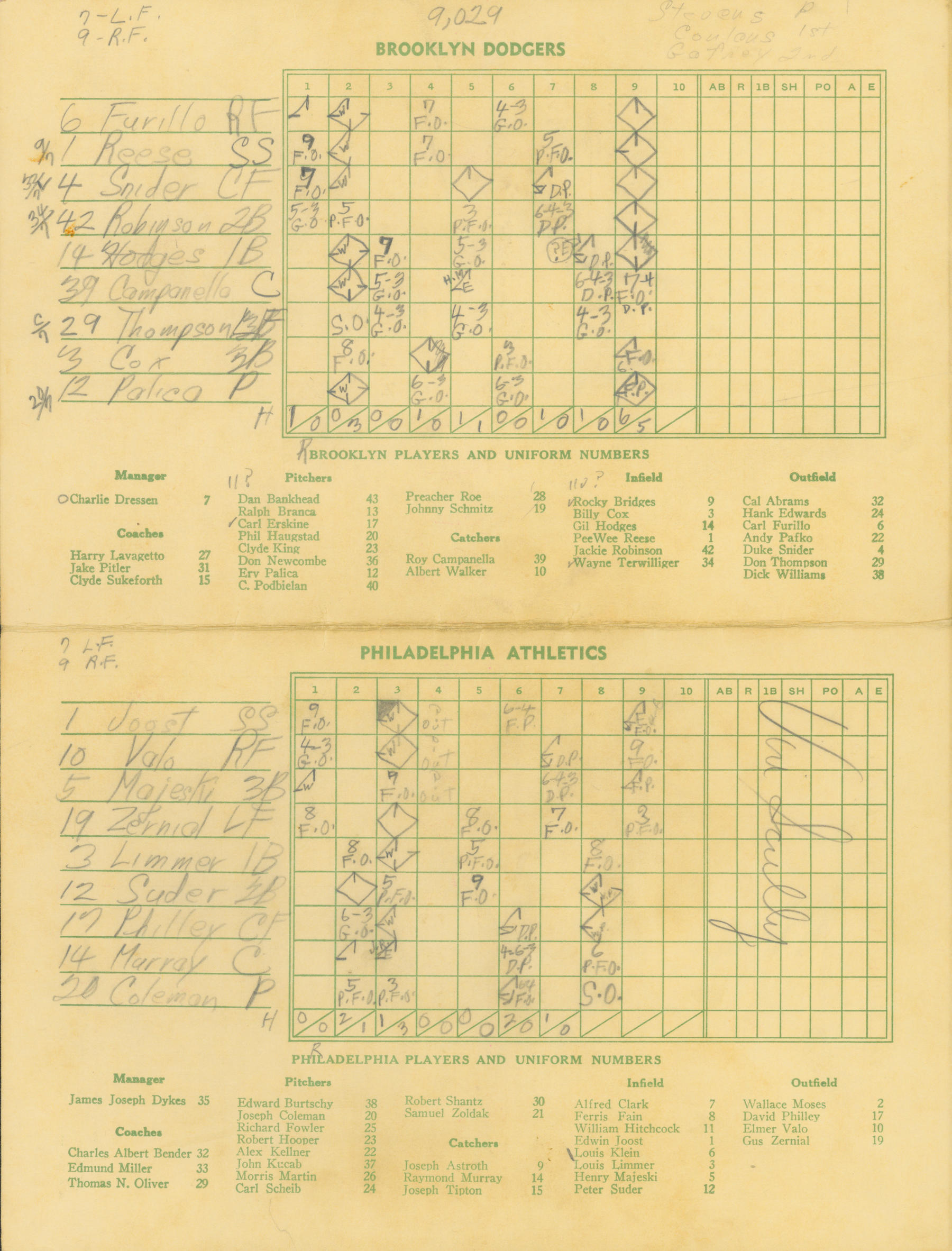 On July 23, 1951 Vin Scully called the annual Hall of Fame Game at Doubleday Field. The scorecard from that game is held at the Baseball Hall of Fame. (National Baseball Hall of Fame)