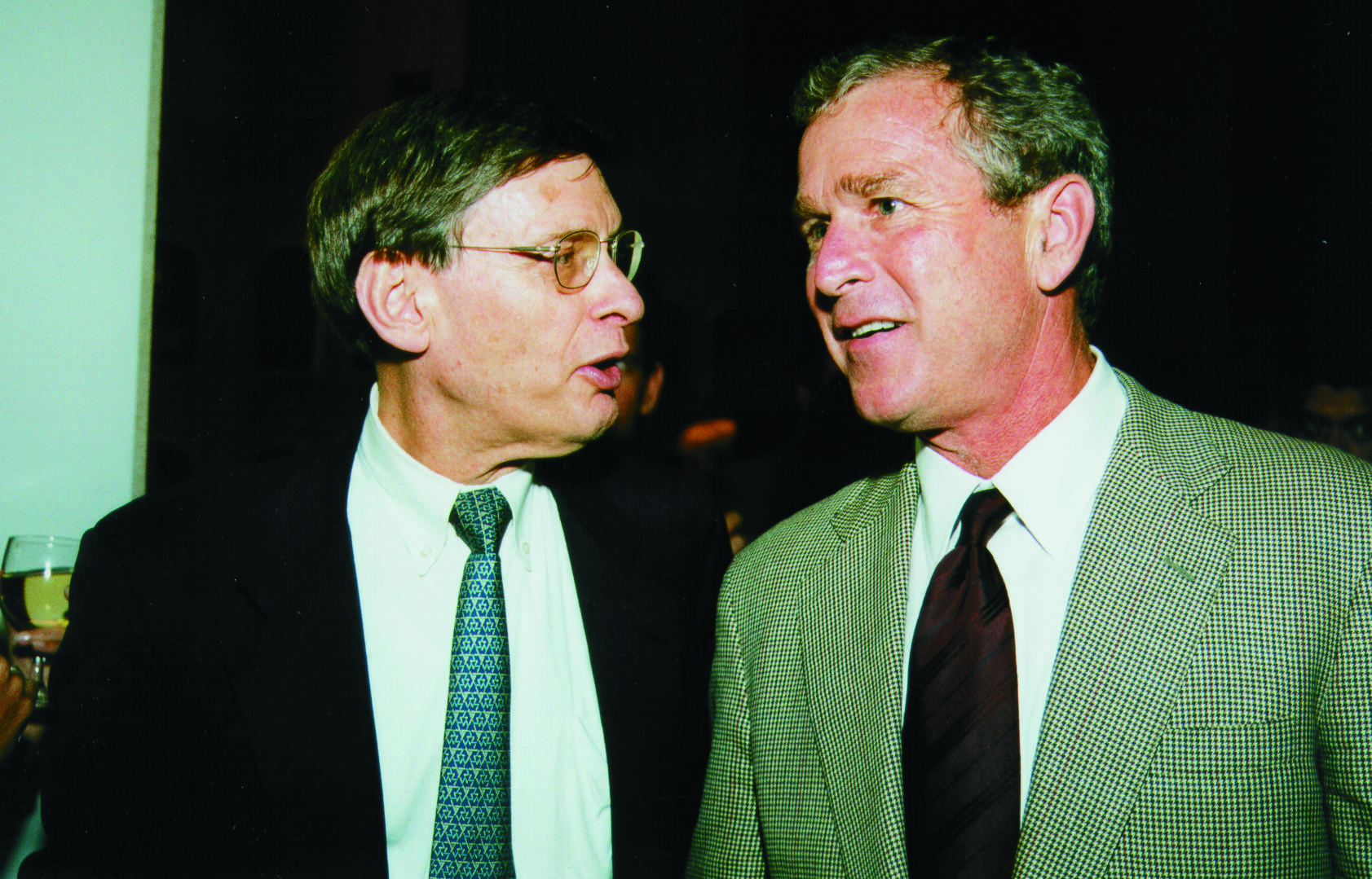 Bud Selig pictured above with former President George W. Bush. (National Baseball Hall of Fame)