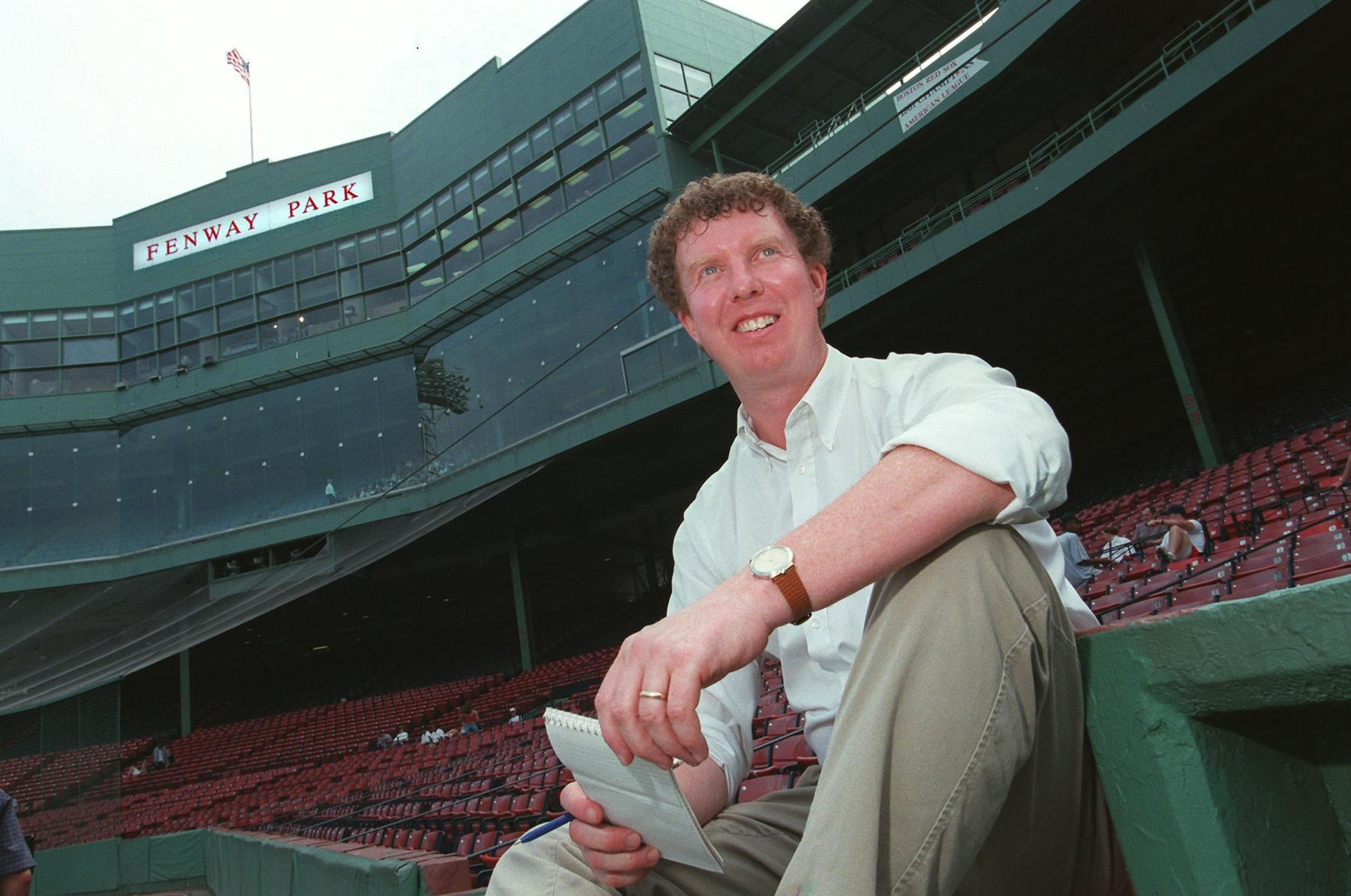 """2016 J.G. Taylor Spink Award winner Dan Shaughnessy has been covering the Red Sox since joining <em>The Boston Globe</em> in 1981. He is credited with coining the term """"Red Sox Nation"""" to describe the team's fervent fan base."""