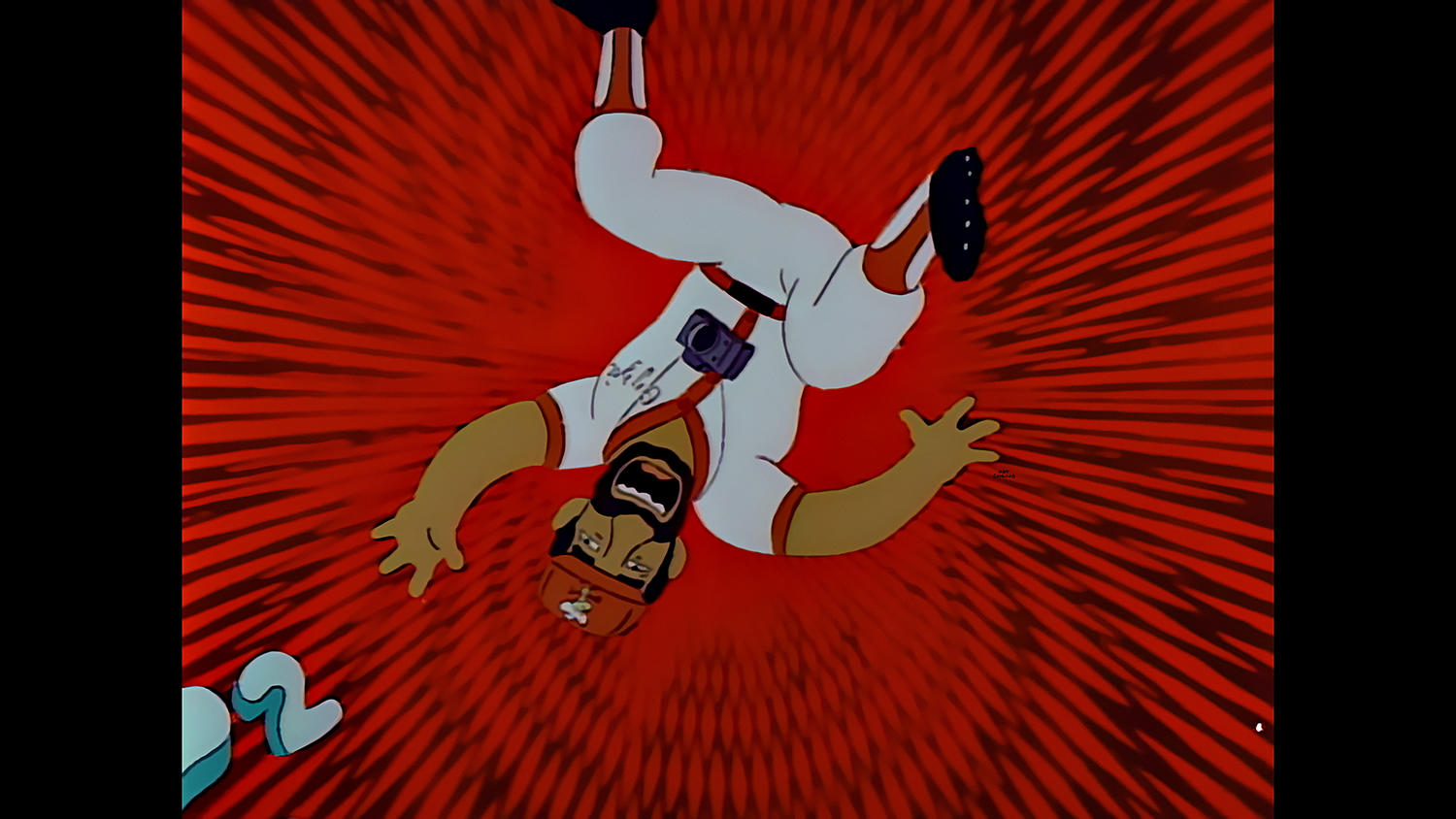 """Ozzie Smith, pictured above as he falls into the Springfield Mystery Spot, will be among the Hall of Famers discussing THE SIMPSONS """"Homer at the Bat"""" episode on May 27 at the Hall of Fame. (Photo Courtesy of FOX)"""