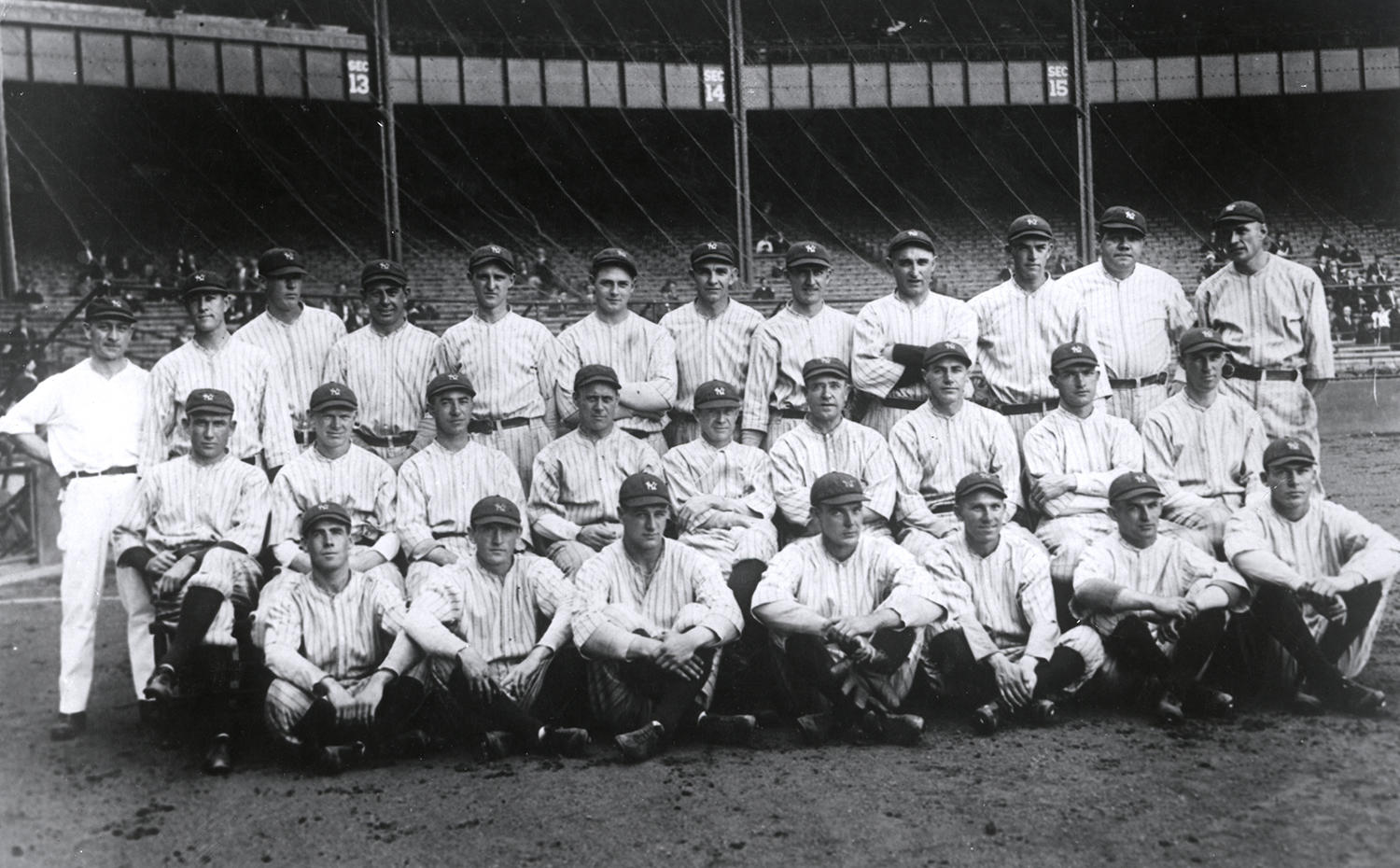 The New York Yankees won their first World Championship in 1923 under Hall of Fame manager Miller Huggins. They would win 26 more over the next 93 years. (National Baseball Hall of Fame and Museum)