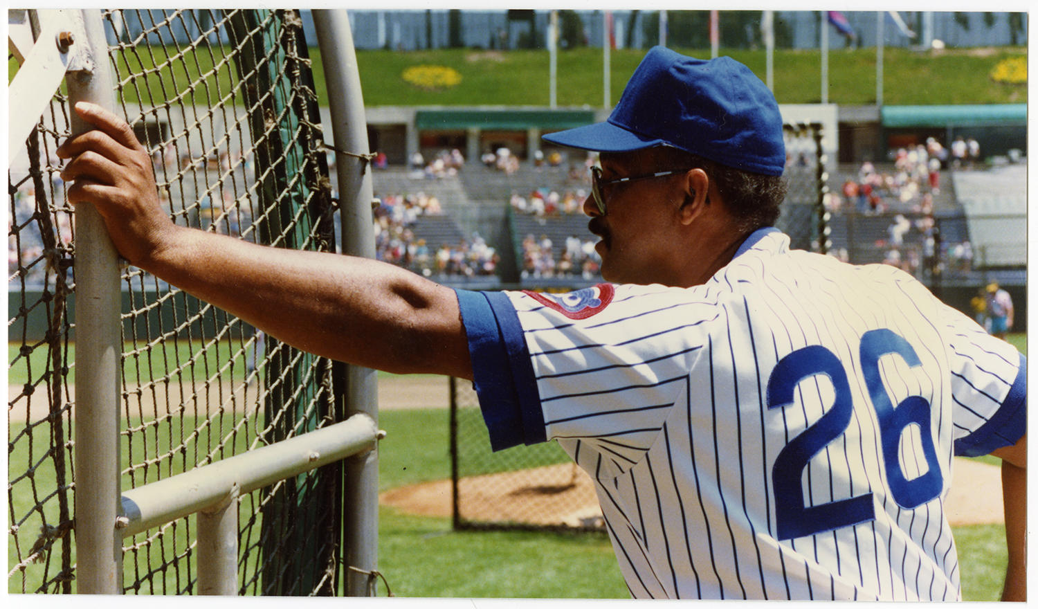 Billy Williams has remained with the Cubs' organization during his retirement as a coach and advisor. (Doug McWilliams / National Baseball Hall of Fame and Museum)