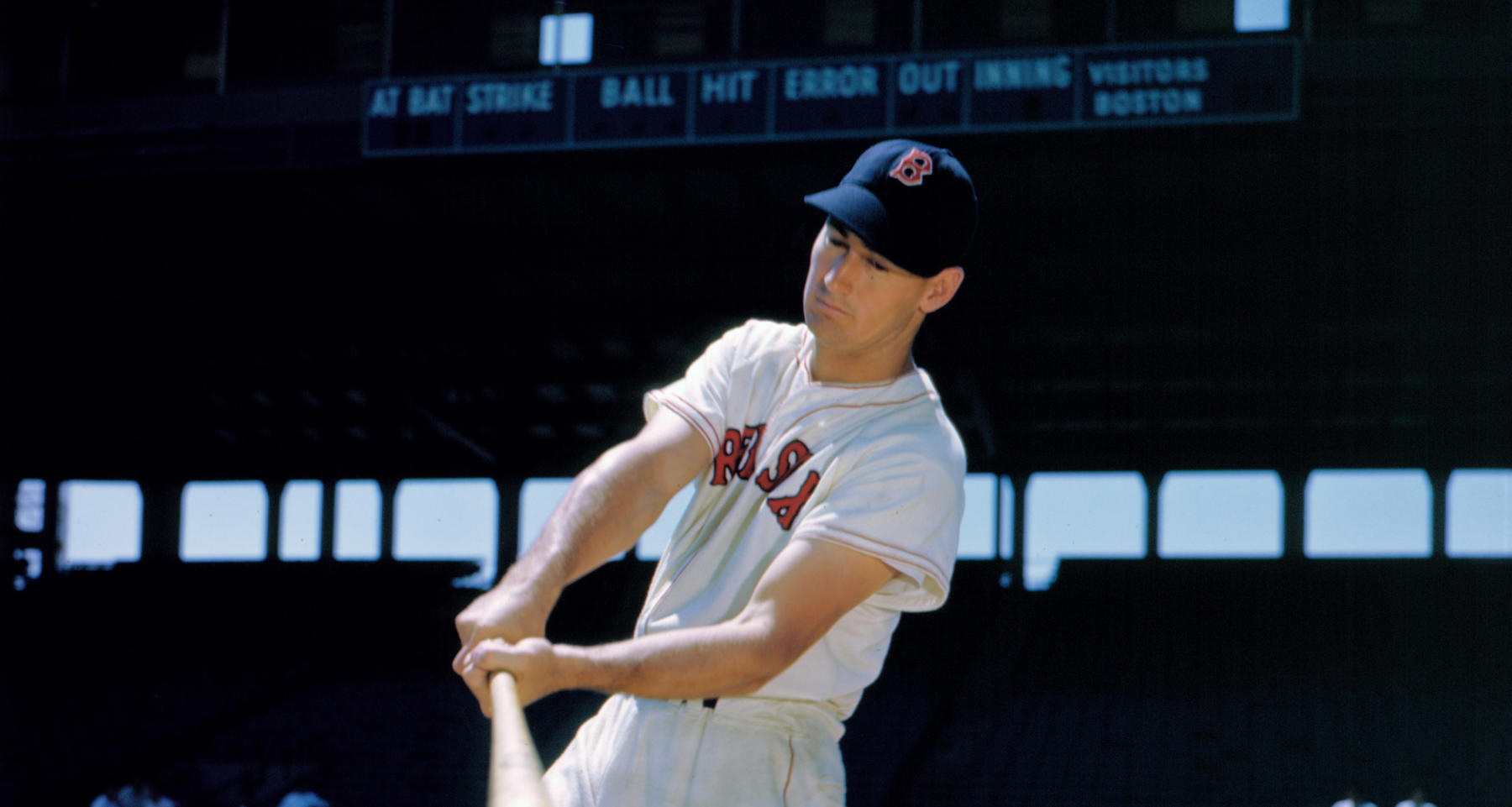 Detail of Ted Williams from BL-68-57 (National Baseball Hall of Fame Library)