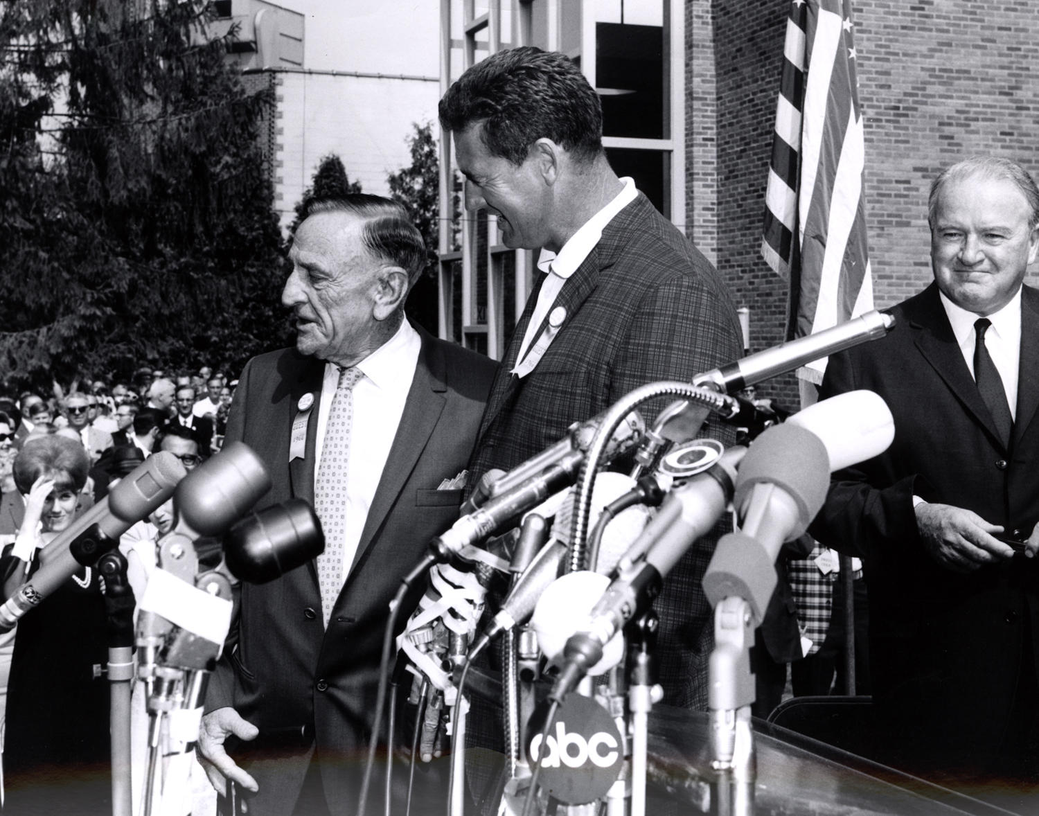 Casey Stengel (left) is one of 23 managers to be elected to the Hall of Fame, and Ted Williams (right) is one of 22 left fielders to be elected. Both were elected in 1966. (National Baseball Hall of Fame and Museum)