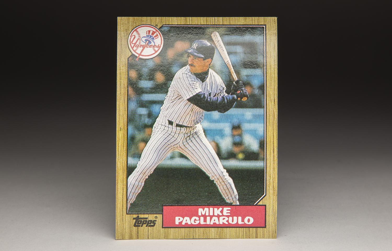 Cardcorner 1987 Topps Mike Pagliarulo Baseball Hall Of Fame