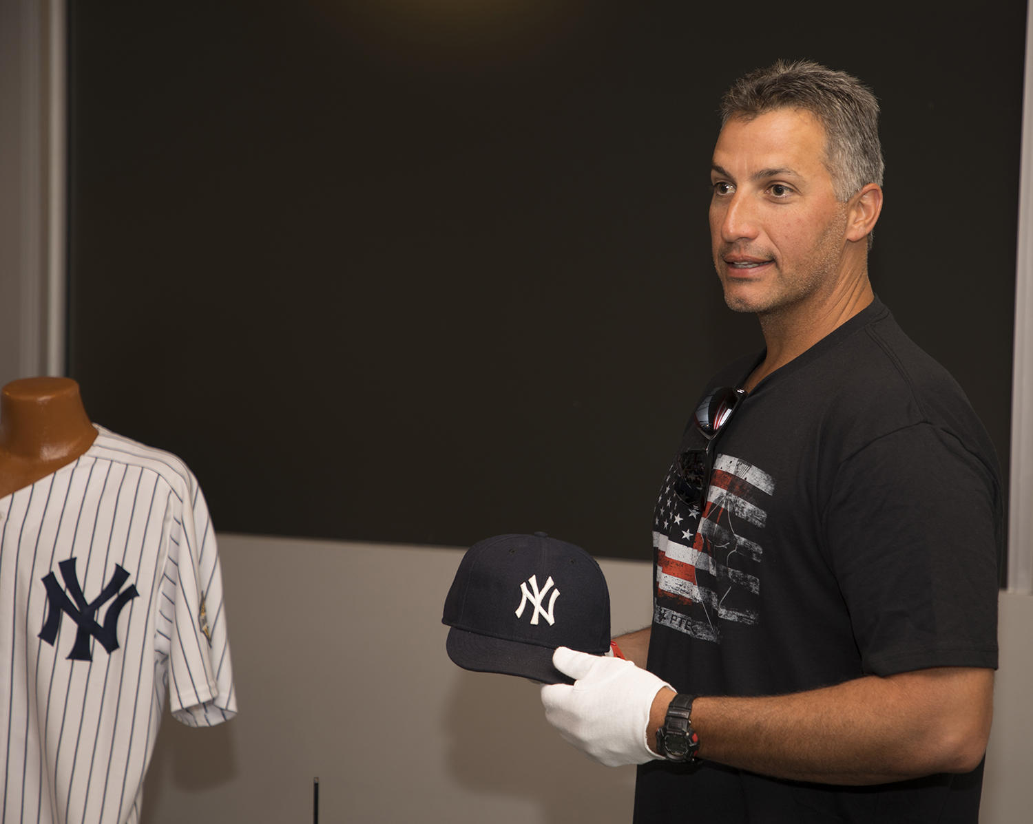Andy Pettitte recently visited Cooperstown for the first time since 1991, when he was playing for the Oneonta Yankees in the New York-Penn League. (Milo Stewart Jr. / National Baseball Hall of Fame and Museum)