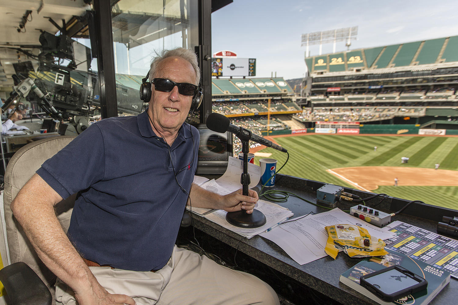 The 2017 season will be Ken Korach's 22nd season broadcasting A's baseball, 10 of which, from 1996 to 2005, were spent working alongside Bill King. (Jean Fruth / National Baseball Hall of Fame)