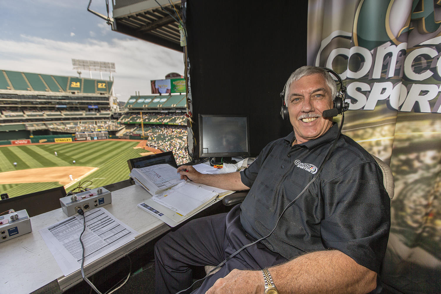 Ray Fosse has been in the A's broadcast booth for the past three decades, working with Bill King during his first years on the air. (Jean Fruth / National Baseball Hall of Fame)