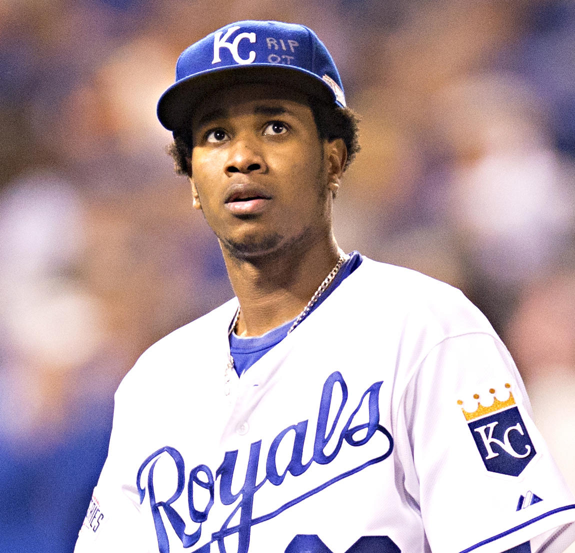 1b8eafca0 Yordano Ventura honored his friend Oscar Taveras prior to his start in Game  6 of the