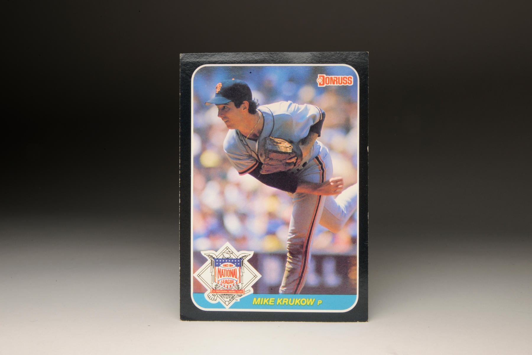 1987 Mike Krukow Donruss card. (Milo Stewart Jr. / National Baseball Hall of Fame)